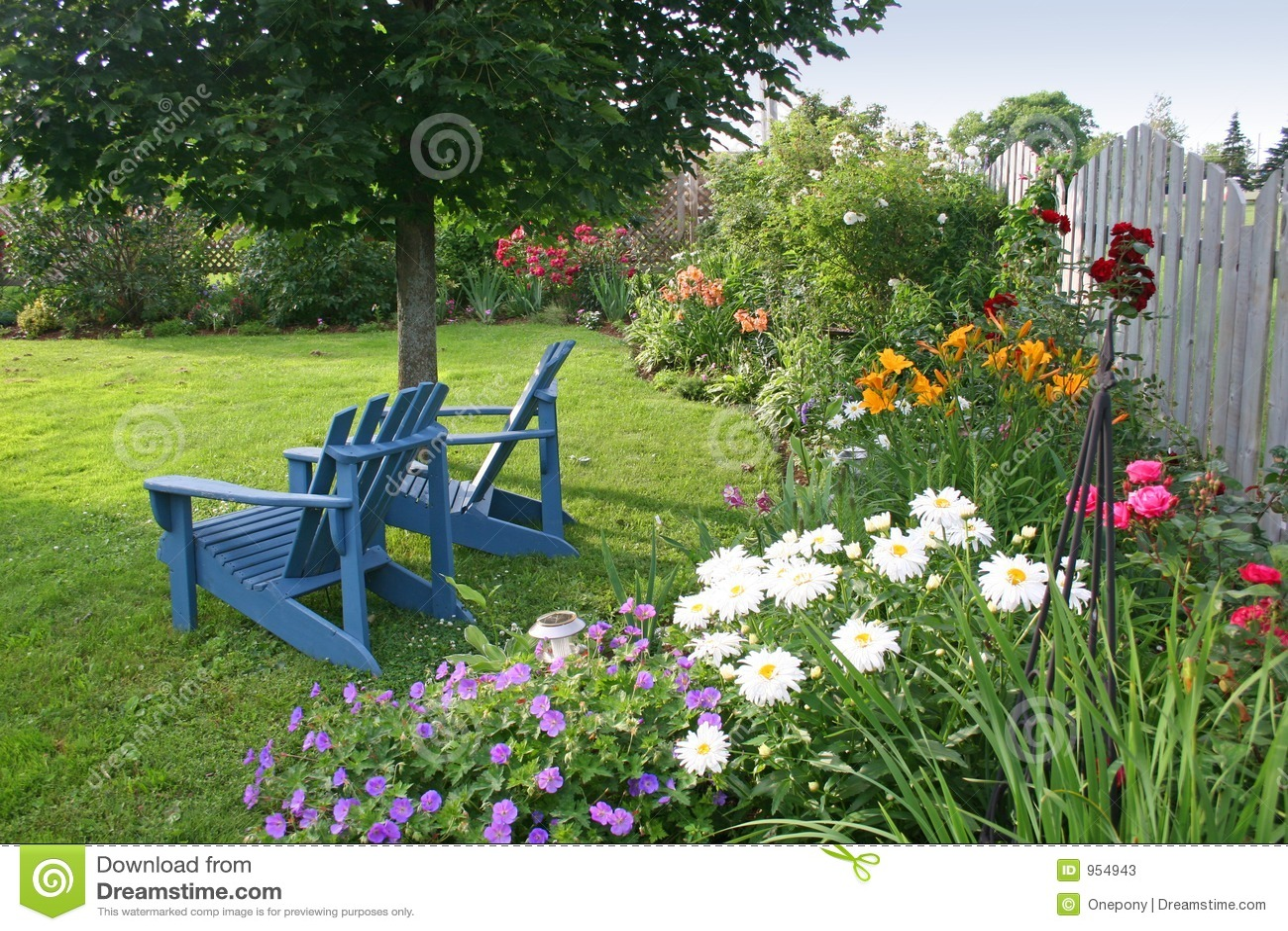 De tuin van de binnenplaats