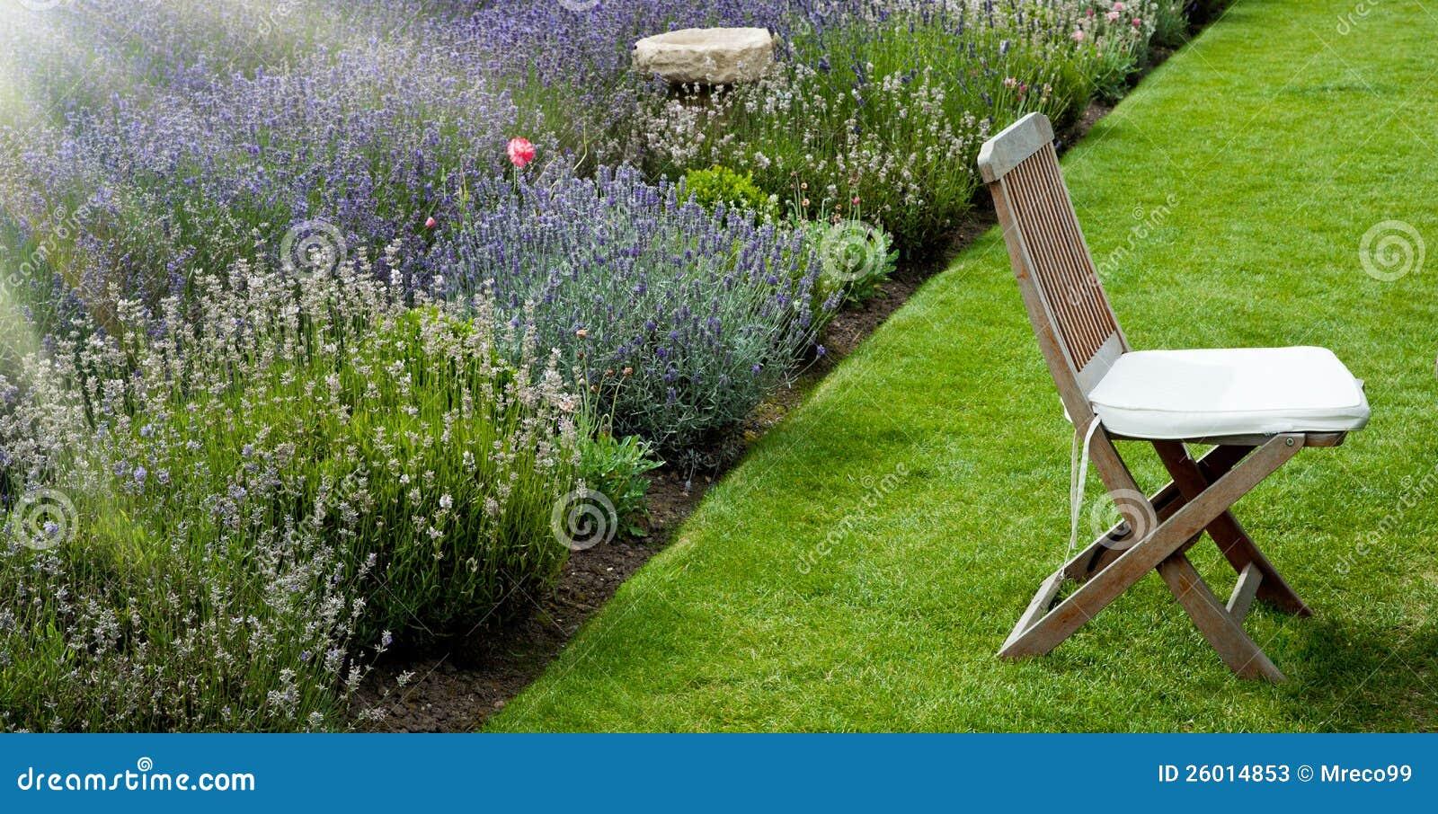 De tuin van de lavendel in de ochtend stock foto 39 s afbeelding 26014853 - Deco van de tuin ...