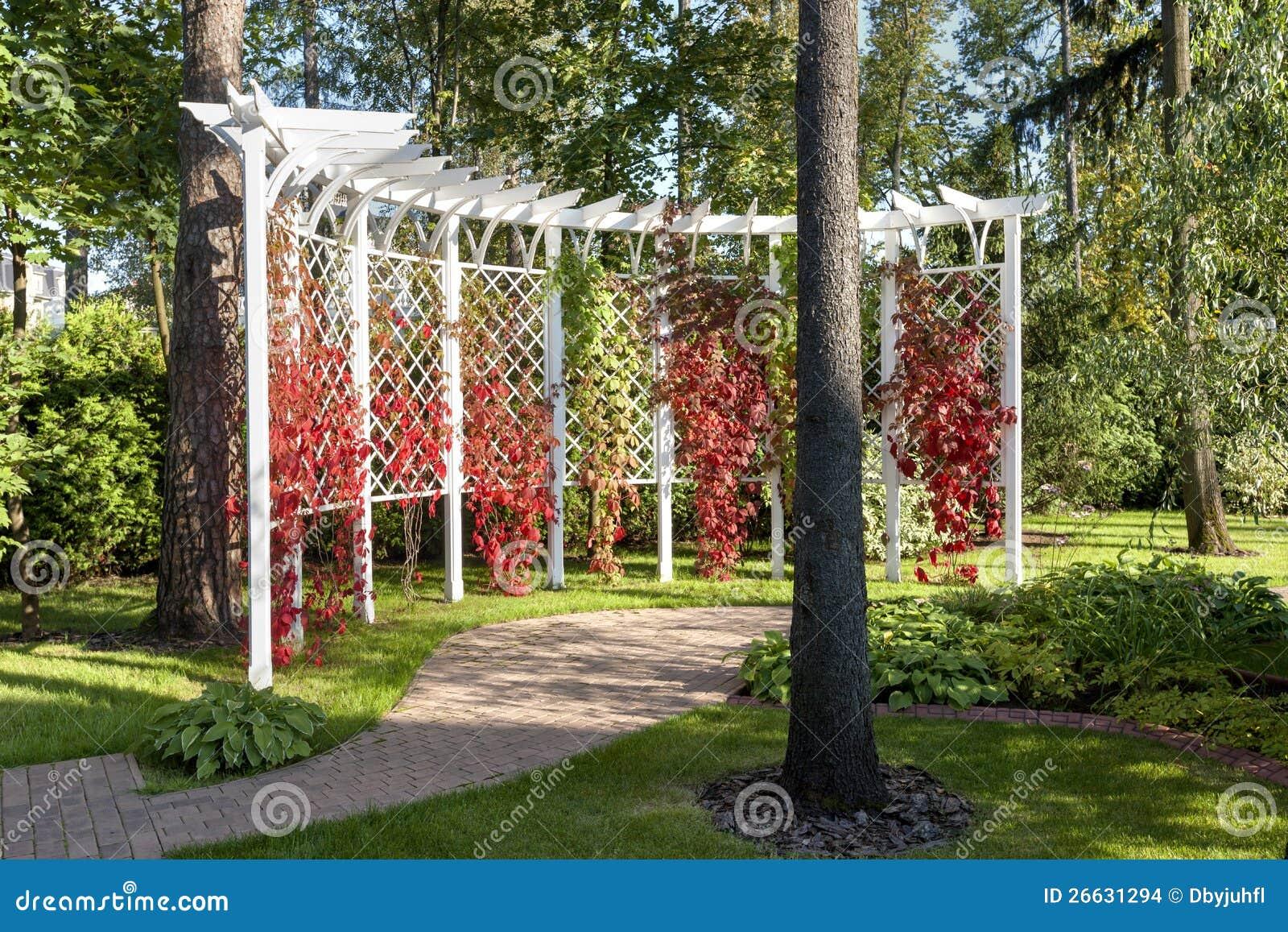 De tuin van de pergola stock afbeeldingen afbeelding 26631294 - Pergola verkoop ...