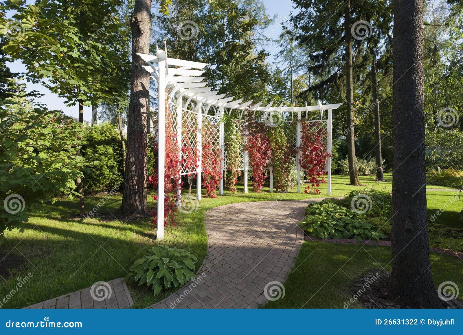 De tuin van de pergola stock fotografie afbeelding 26631322 - Omslag van pergola ...