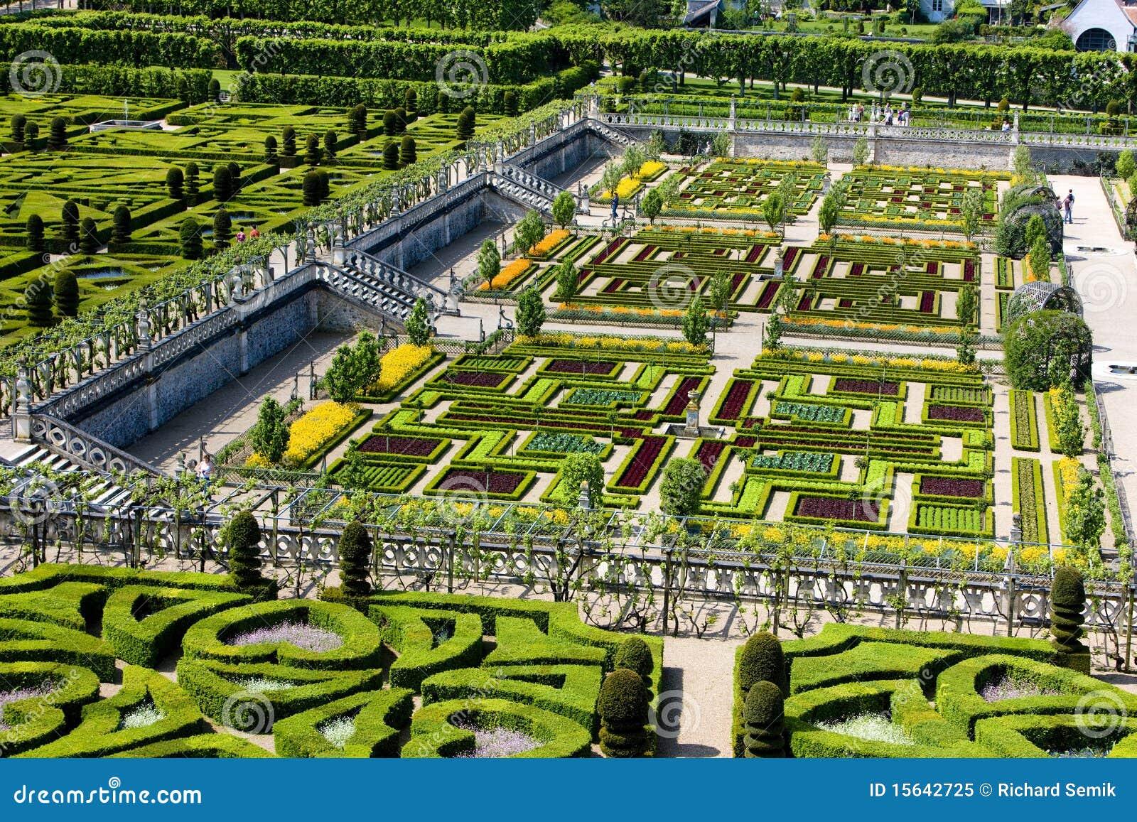 De tuin van het kasteel van villandry stock afbeelding afbeelding 15642725 - Tuin van de tuin ...