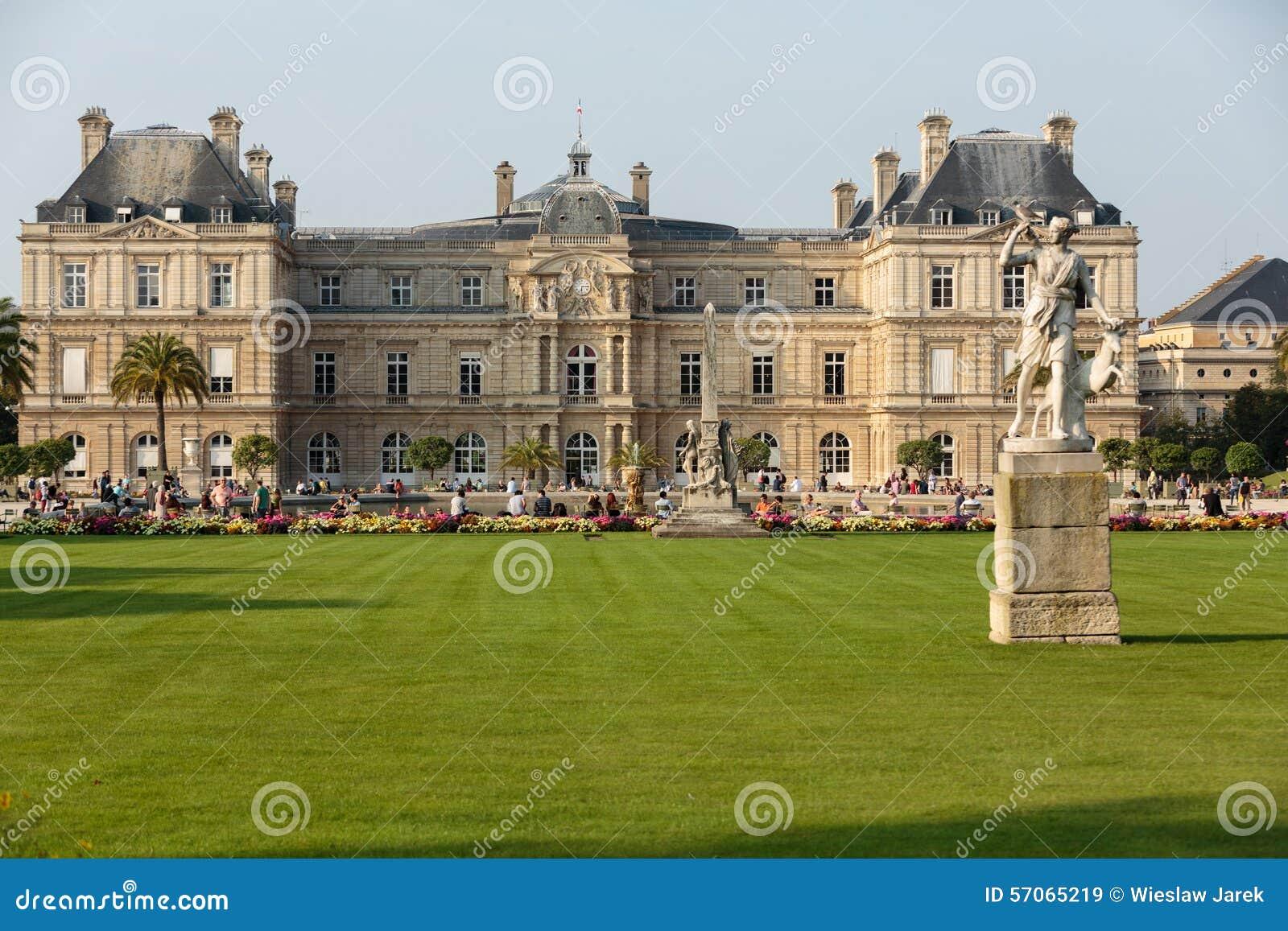 De tuin van Luxemburg in Parijs