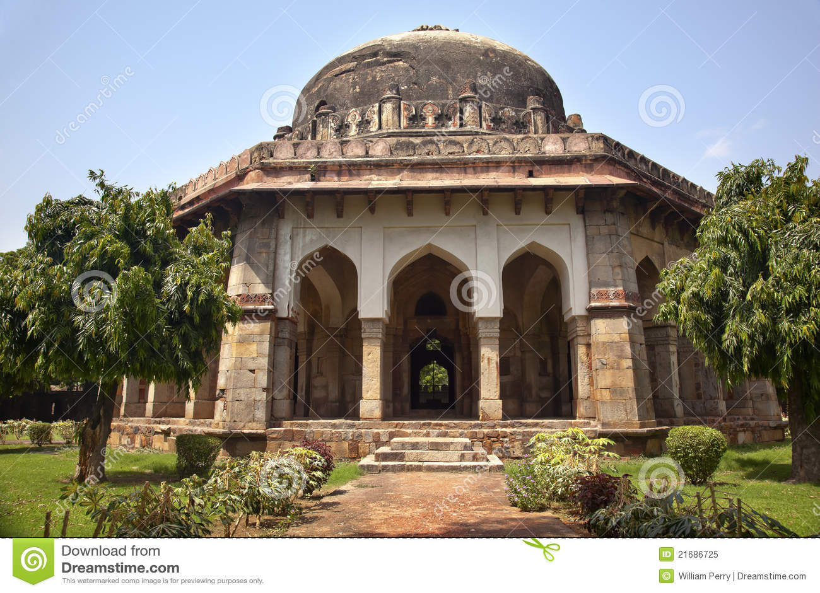 De Tuinen New Delhi India van het Graf van Lodi van Sikandar