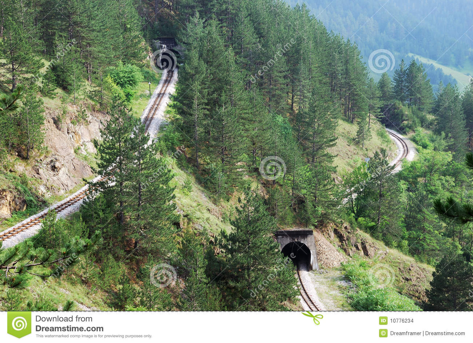 De tunnels van de spoorweg