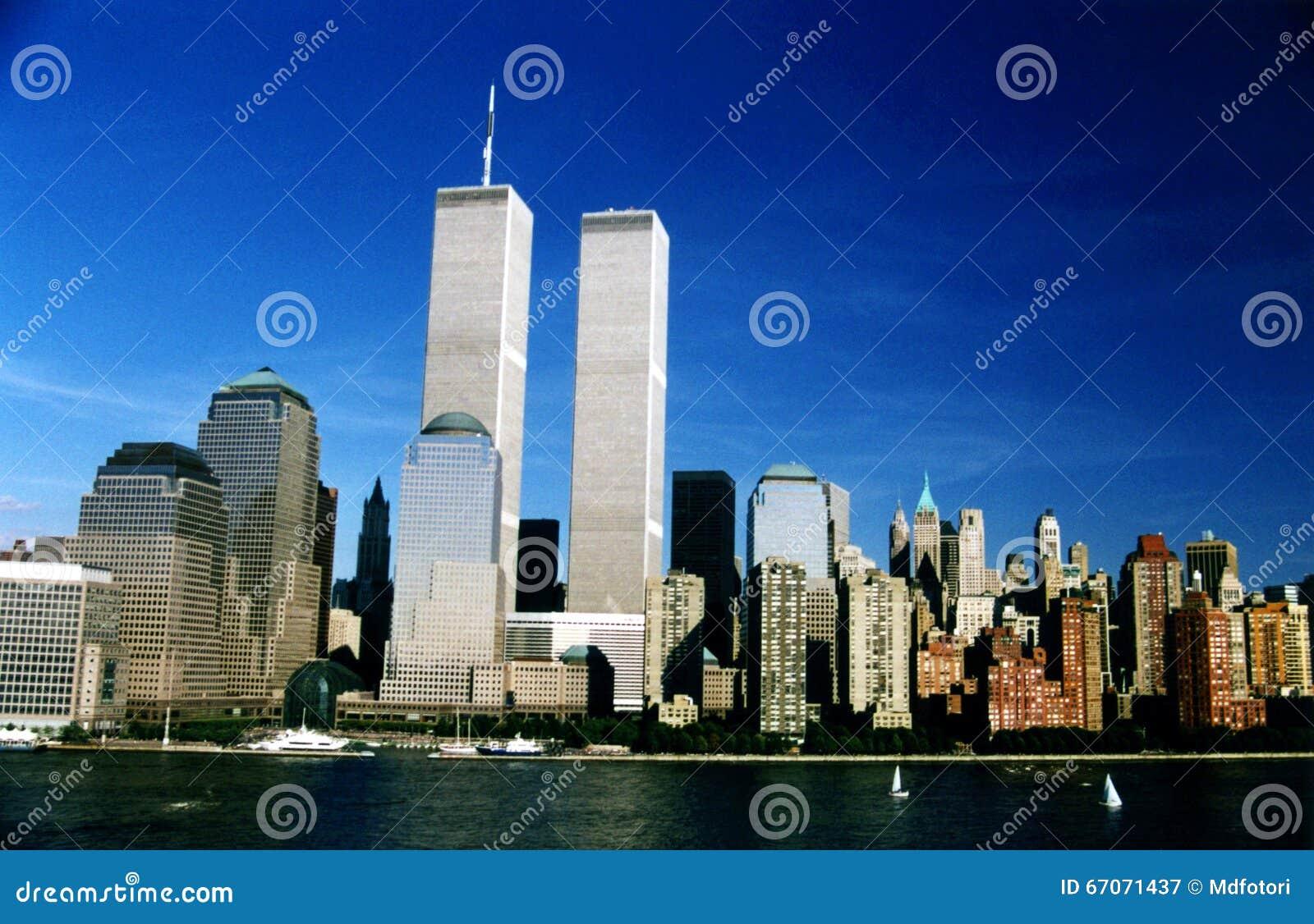 De tweelingtorens van WTC in New York, de V.S.