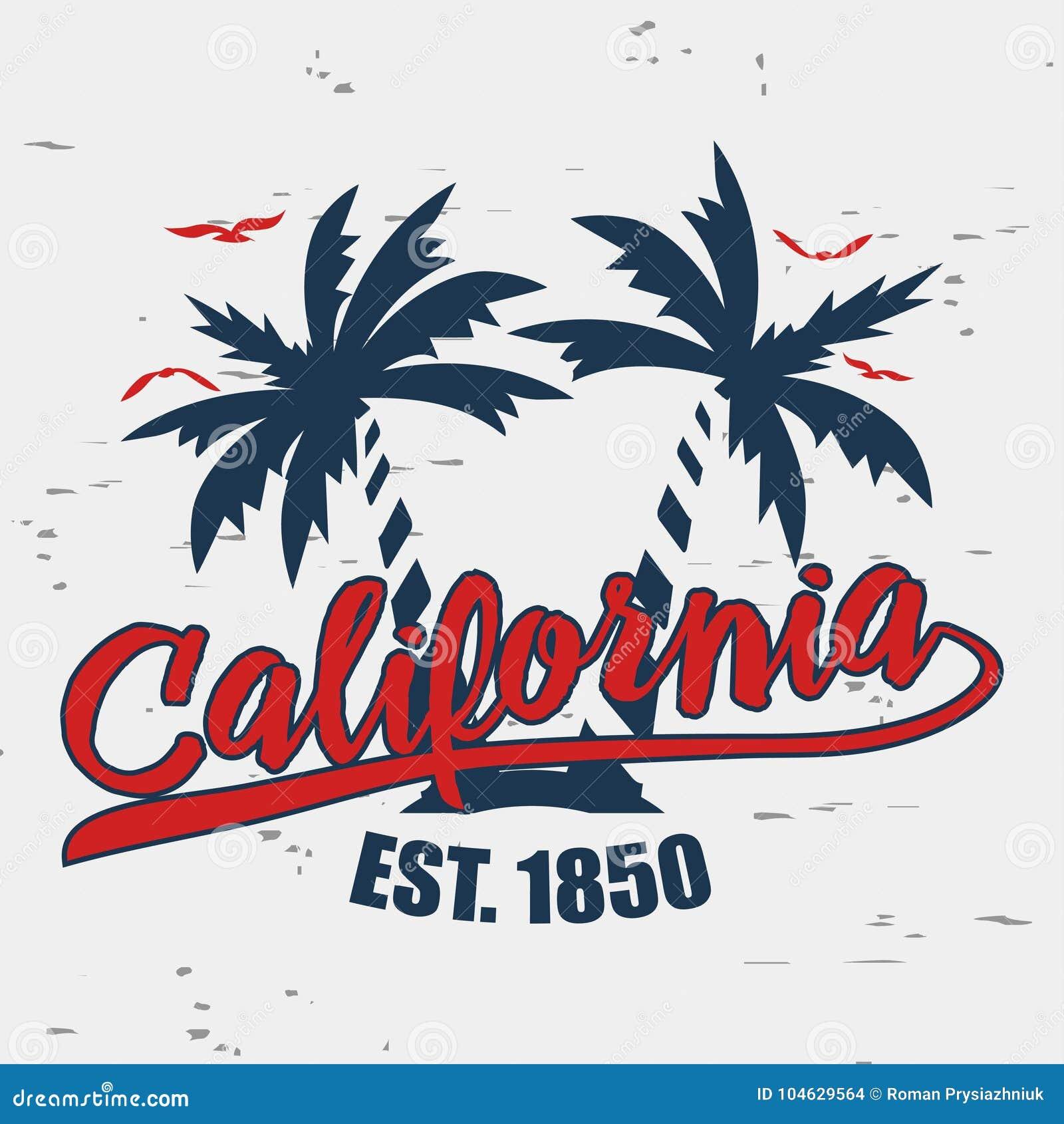 Download De Typografie Van Californië Voor Ontwerpkleren Vector Illustratie Vector Illustratie - Illustratie bestaande uit oceaan, lettering: 104629564