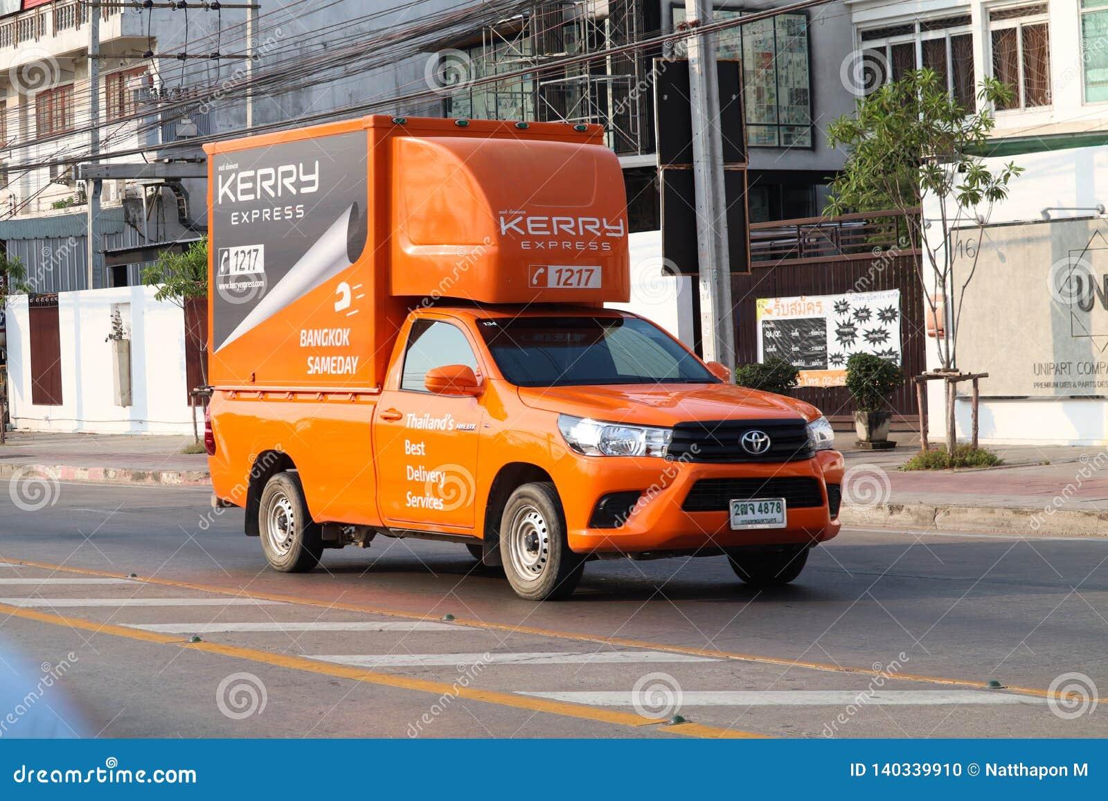 De uitdrukkelijke logistische vrachtwagen van Kerry