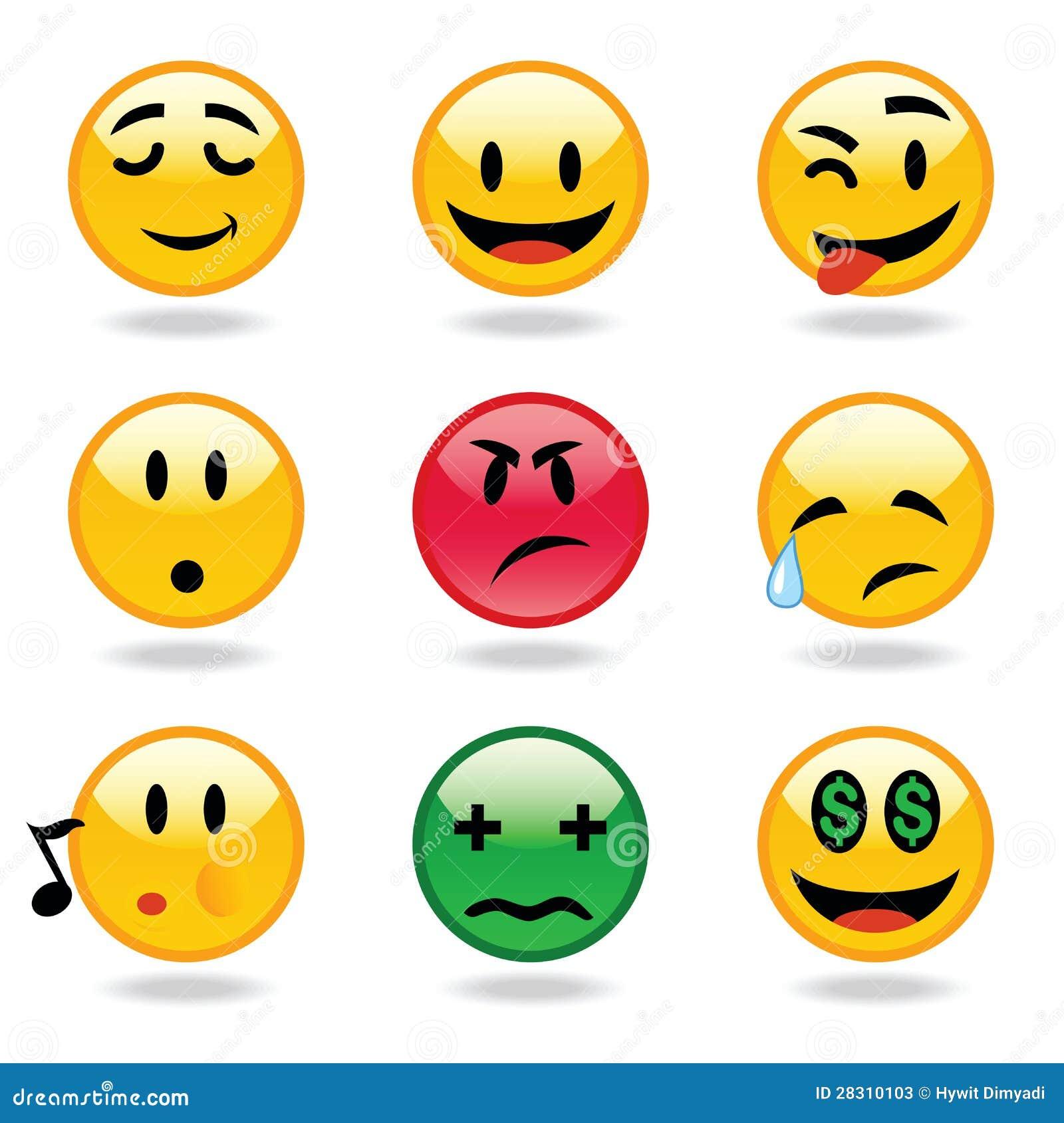 De uitdrukkingen van Emoticons