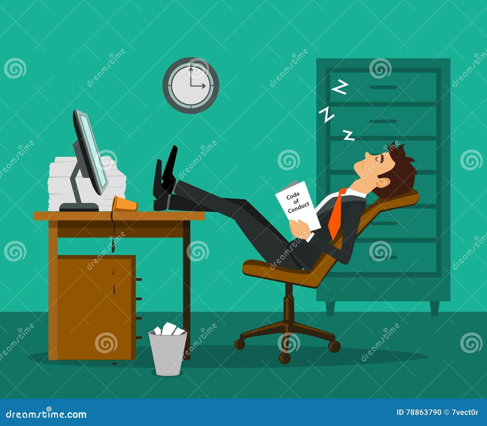 De uitgeputte vermoeide bored benen van de werknemersslaap omhoog op de lijst bij het werkbureau