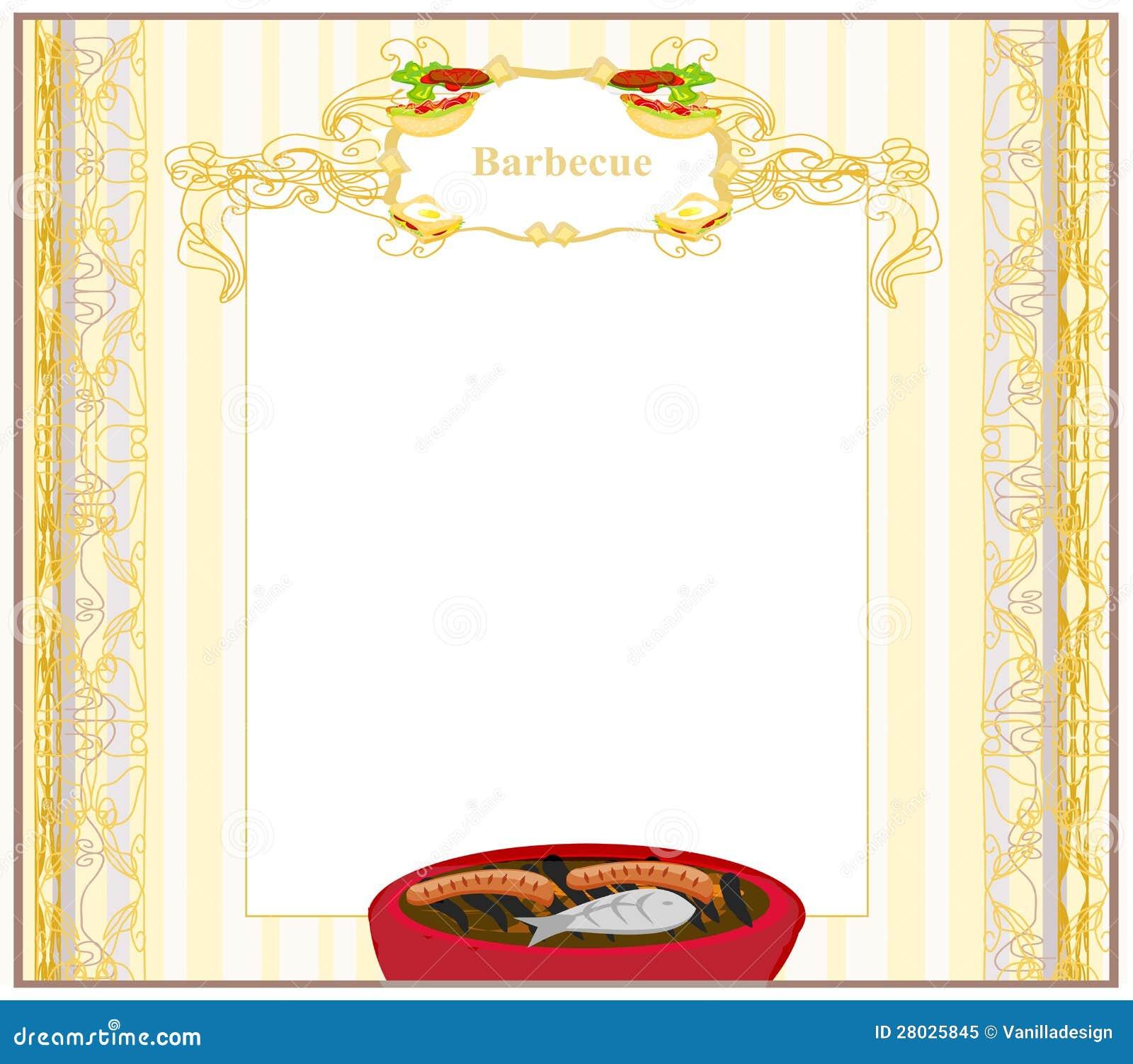 De uitnodiging van de partij van de barbecue royalty vrije stock foto afbeelding 28025845 - Barbecue ontwerp ...