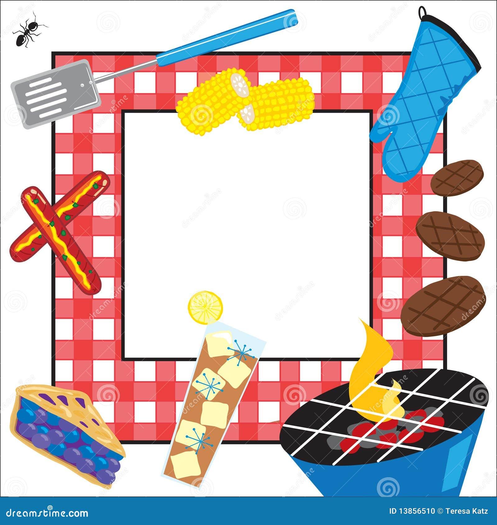 De Uitnodiging van de Partij van de Picknick van de zomer