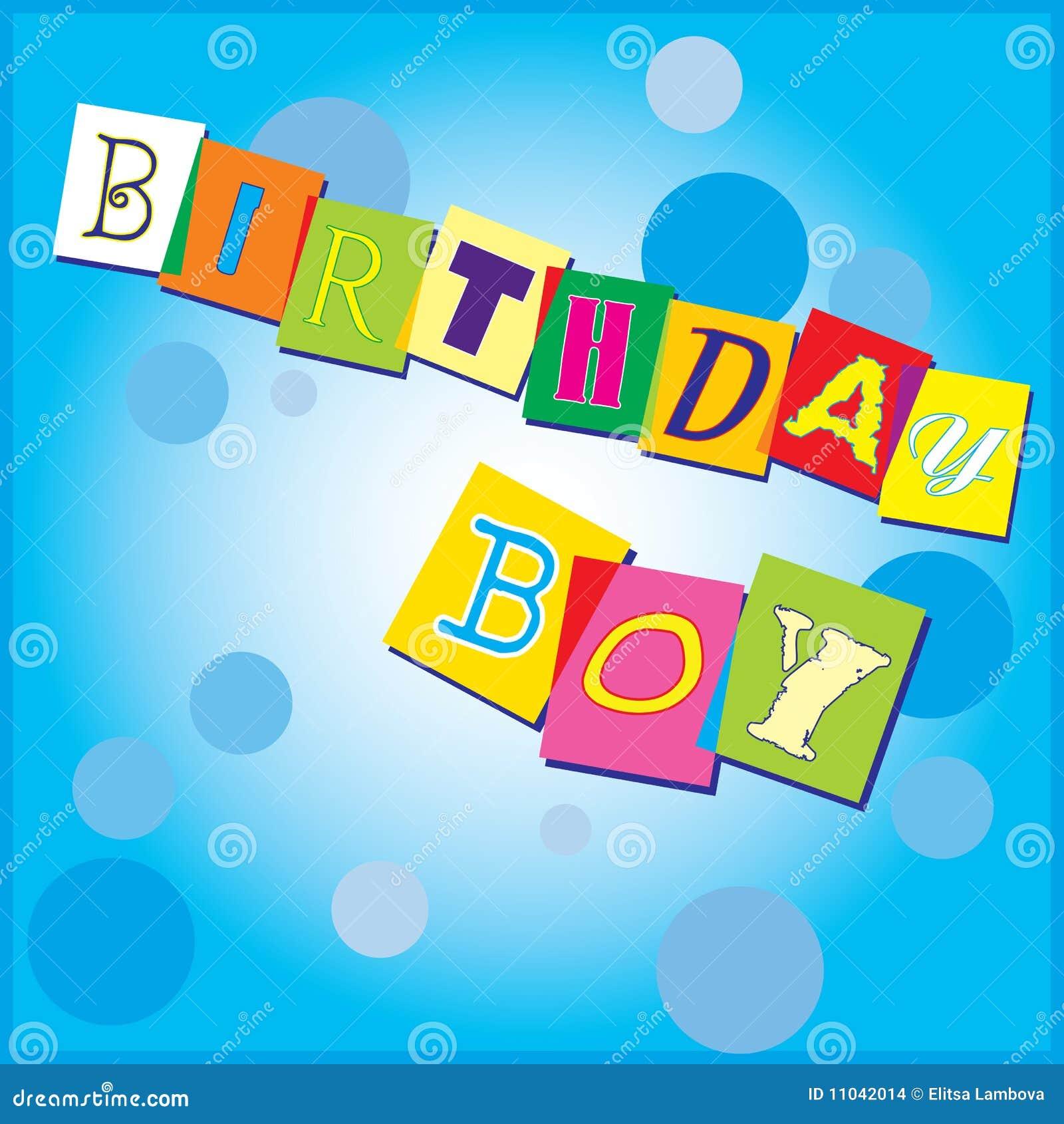 Stock Afbeeldingen: De uitnodiging van de verjaardag voor een jongen