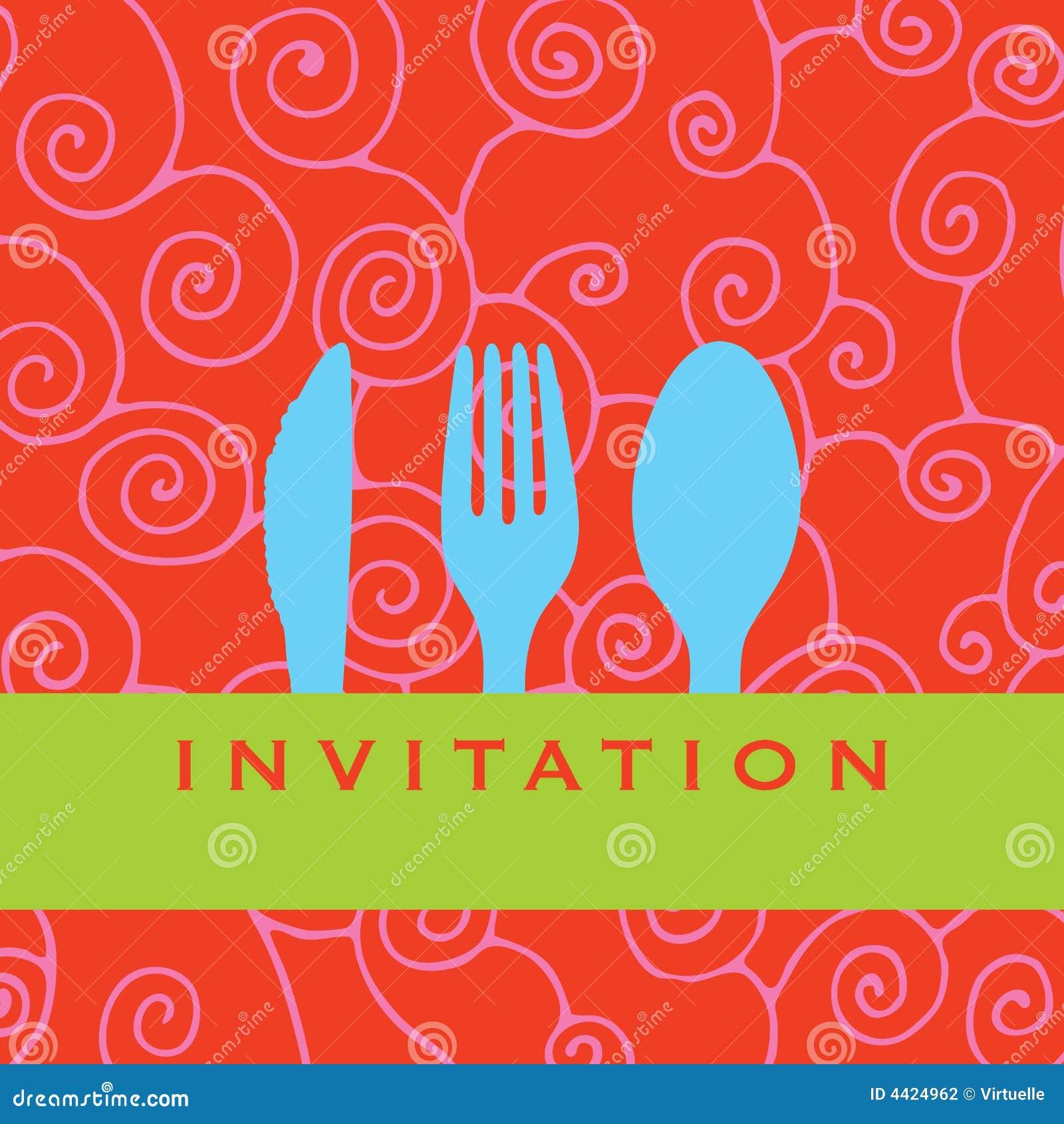 De Uitnodiging Van Het Diner Stock Fotografie - Afbeelding: 4424962