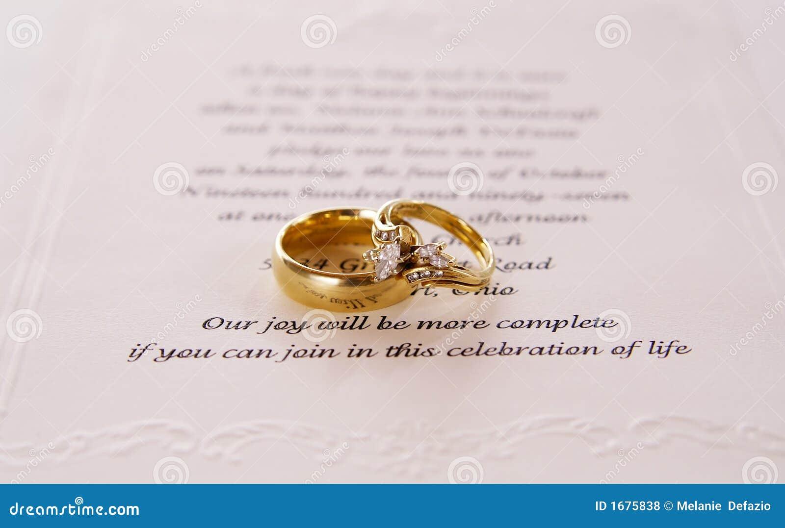 De uitnodiging van het huwelijk stock foto afbeelding