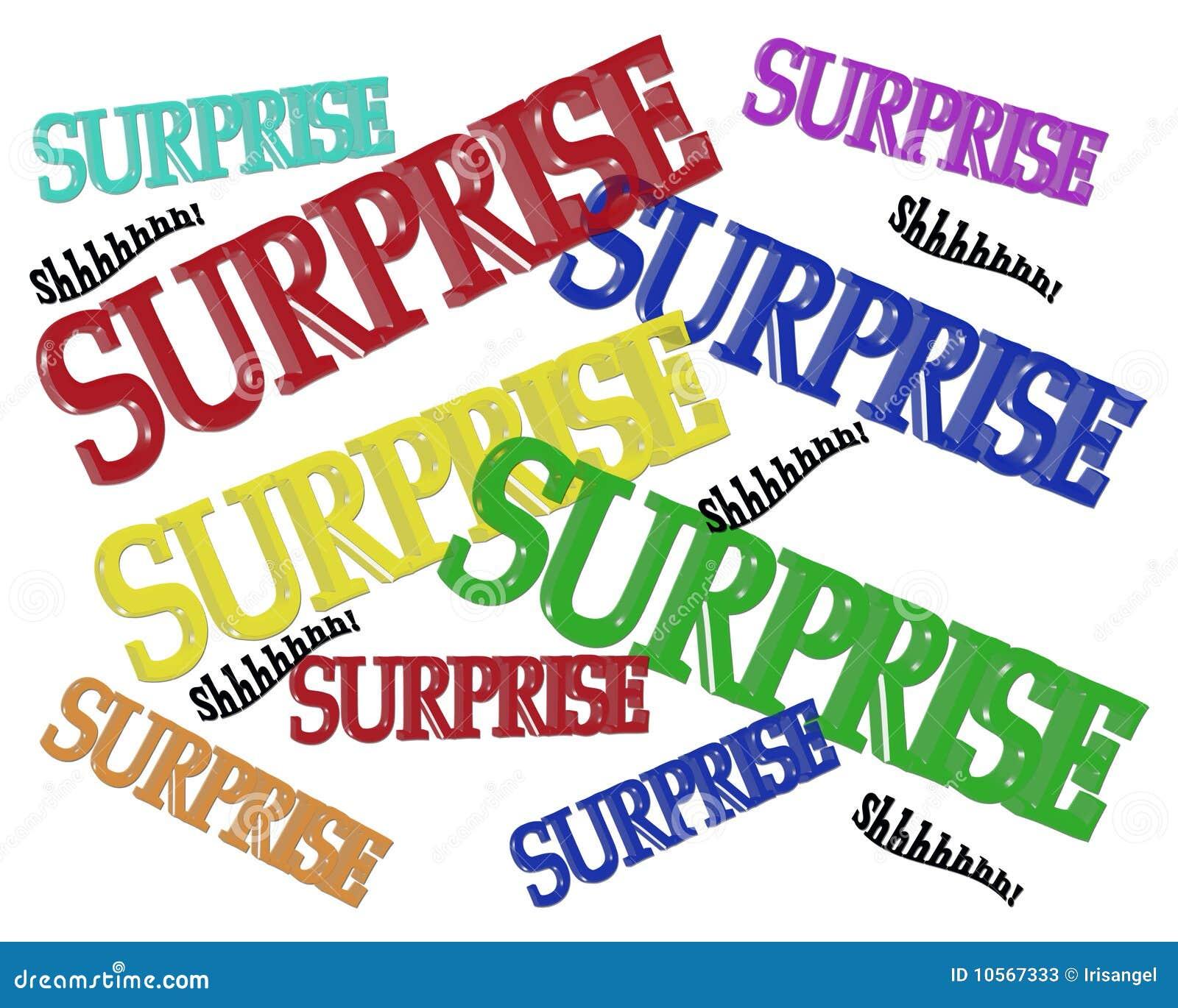 De Uitnodigings 3d Tekst Van De Partij Van De Verrassing Stock