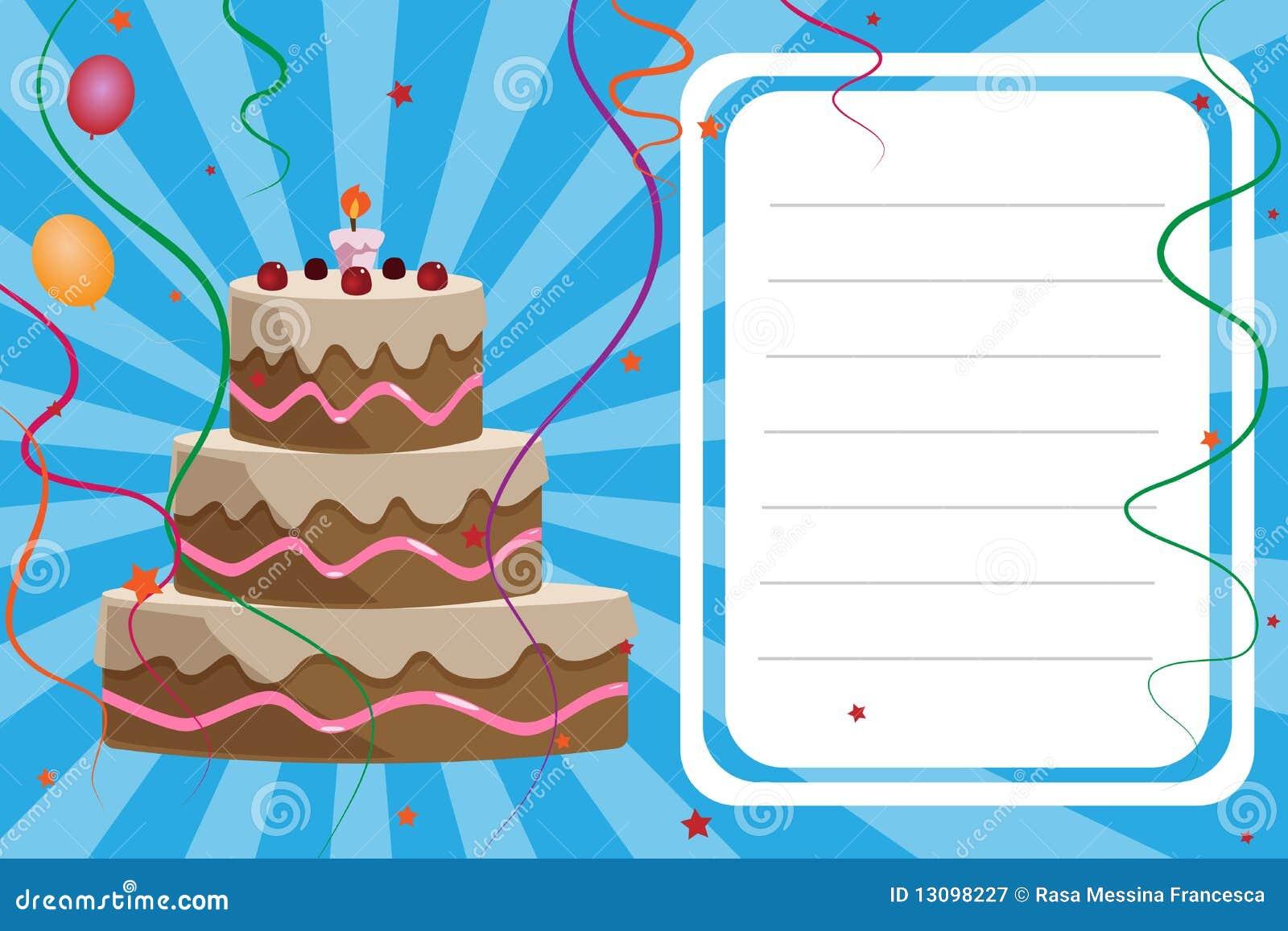 De uitnodigingskaart van de verjaardag jongen royalty vrije stock fotografie afbeelding - Lay outs ruimte van de jongen ...