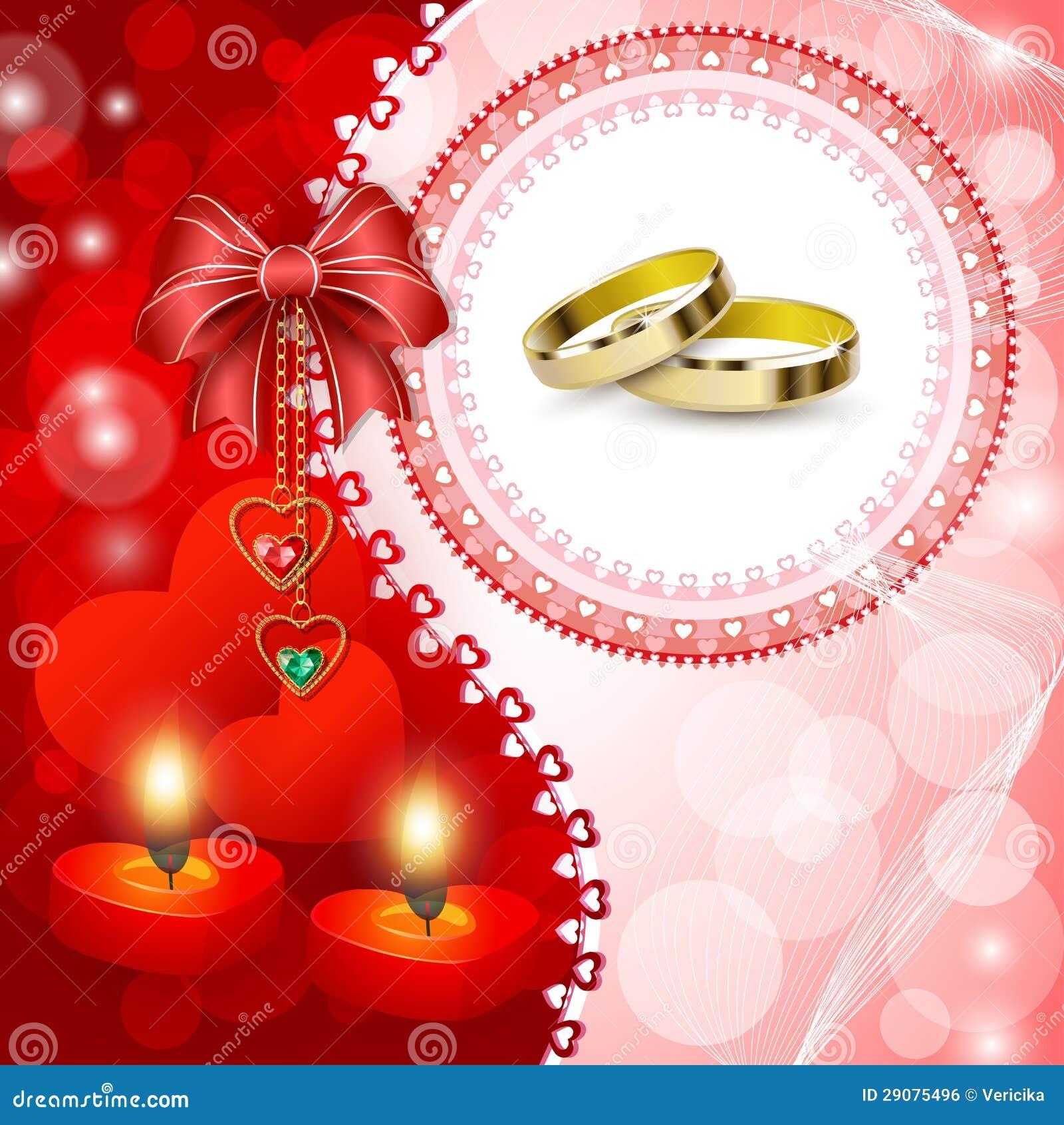 De uitnodigingskaart van het huwelijk met ringen royalty