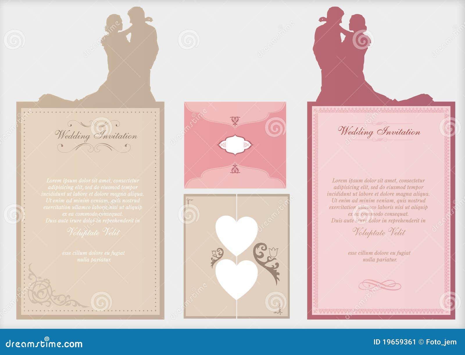 De uitnodigingskaarten van het huwelijk vector illustratie