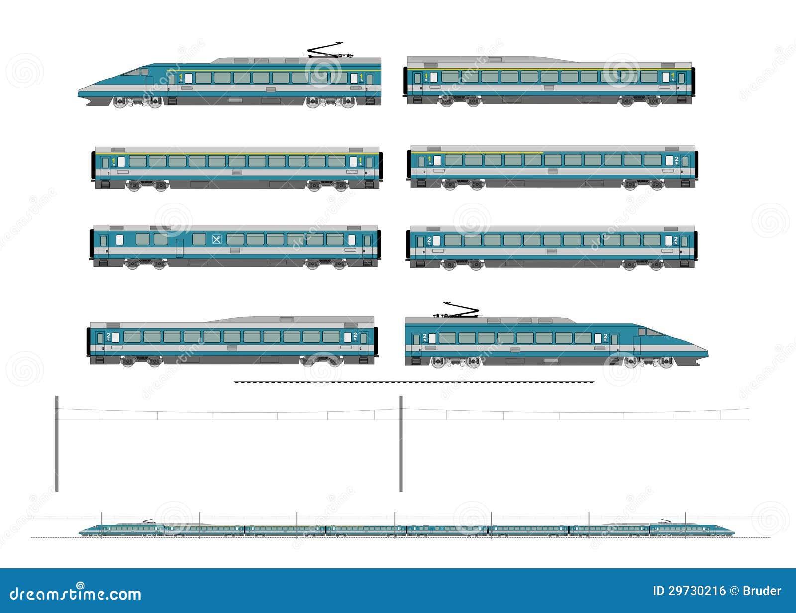 De treinuitrusting van de hoge snelheid