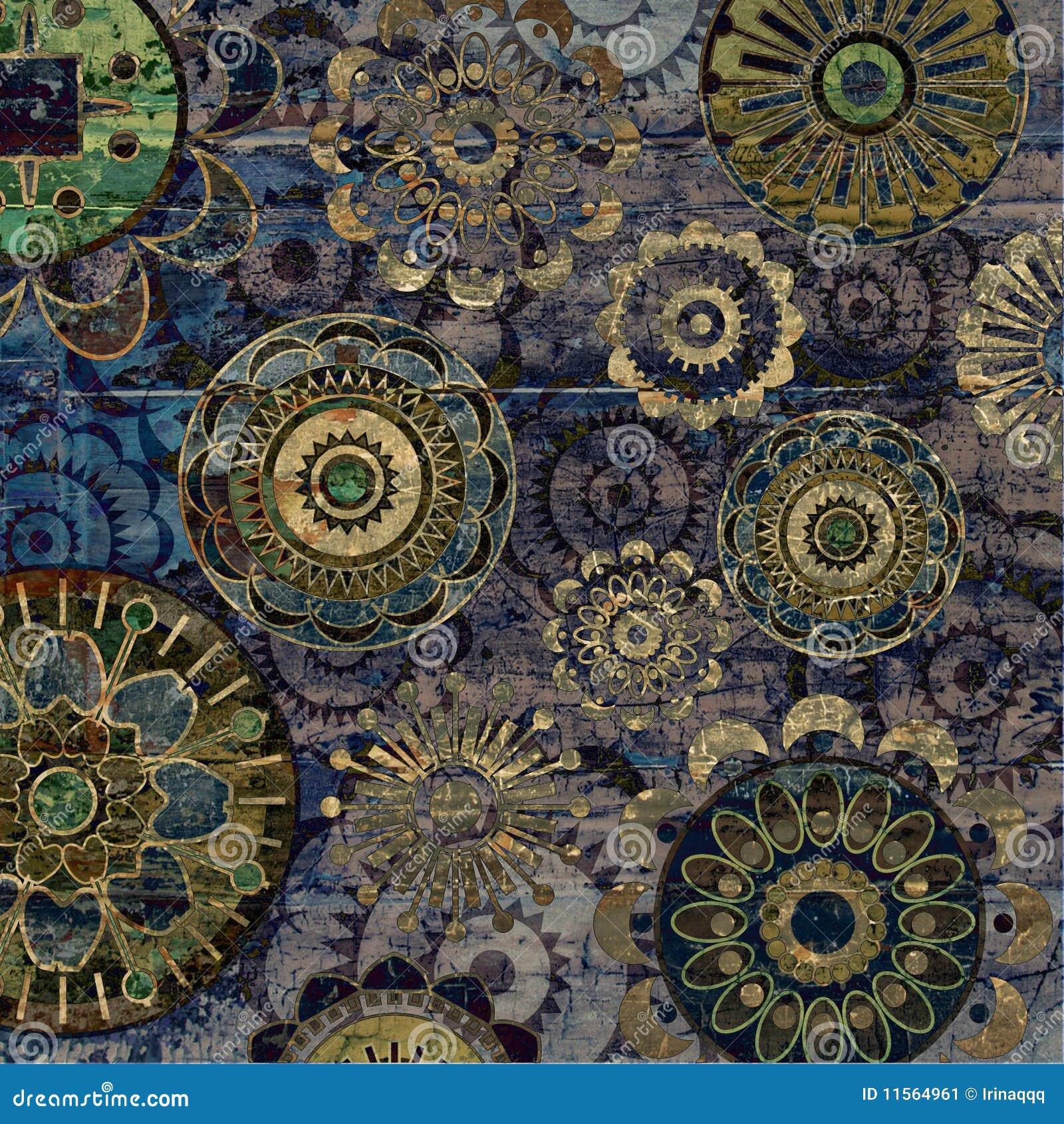 De uitstekende abstracte achtergrond van de kunst grunge