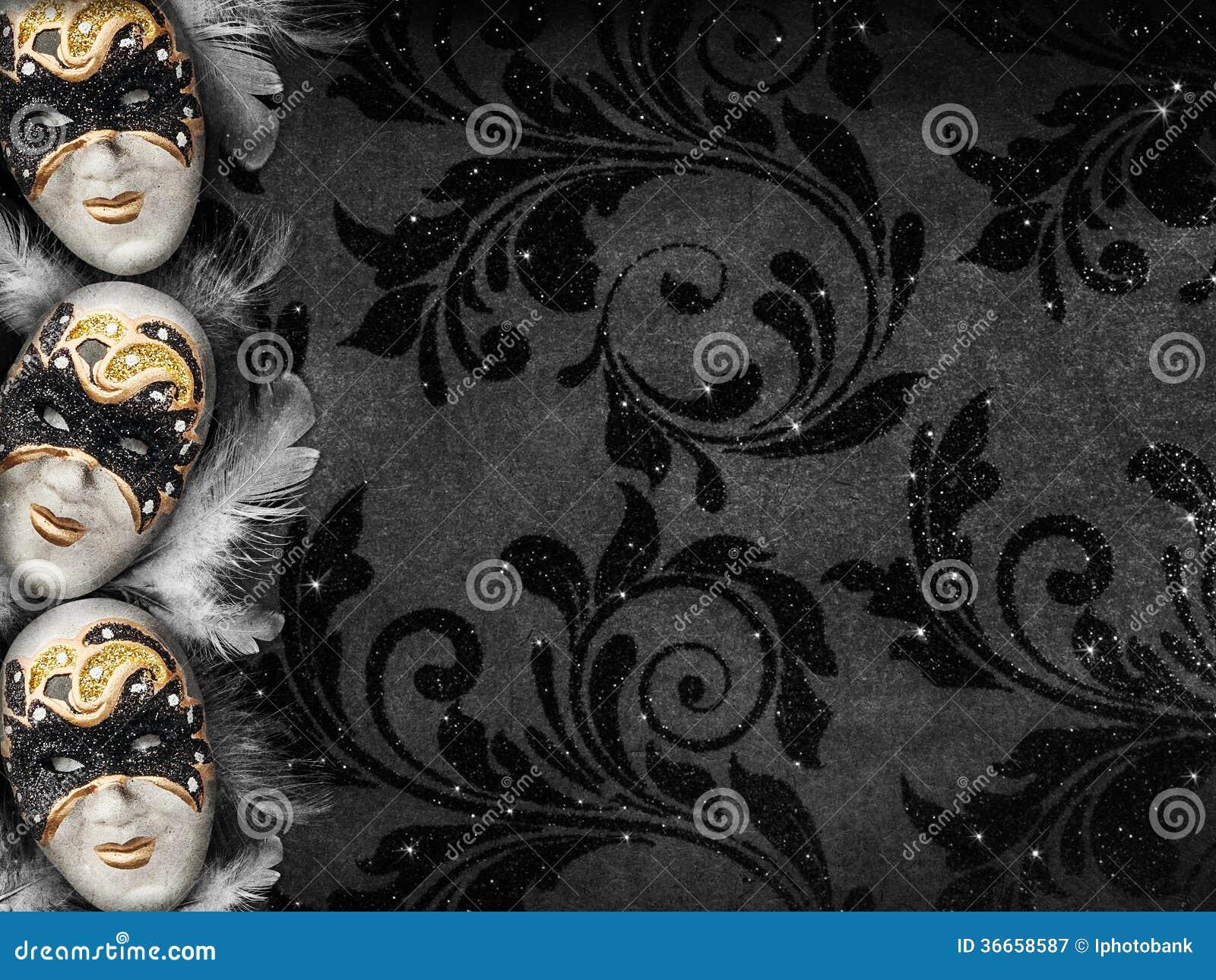 De uitstekende achtergrond van de stijl donkere maskerade