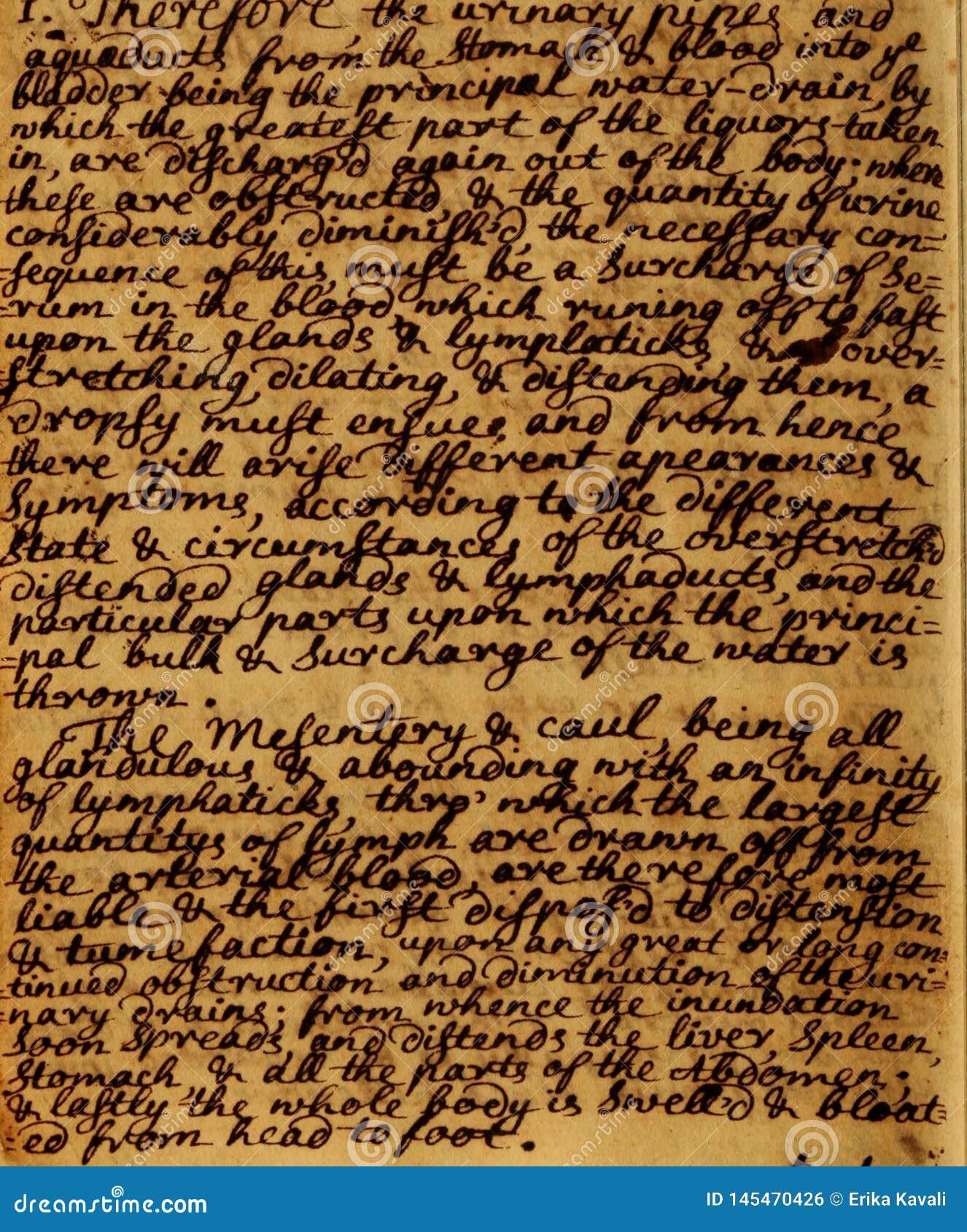 De uitstekende achtergrond van manuscriptenbrieven