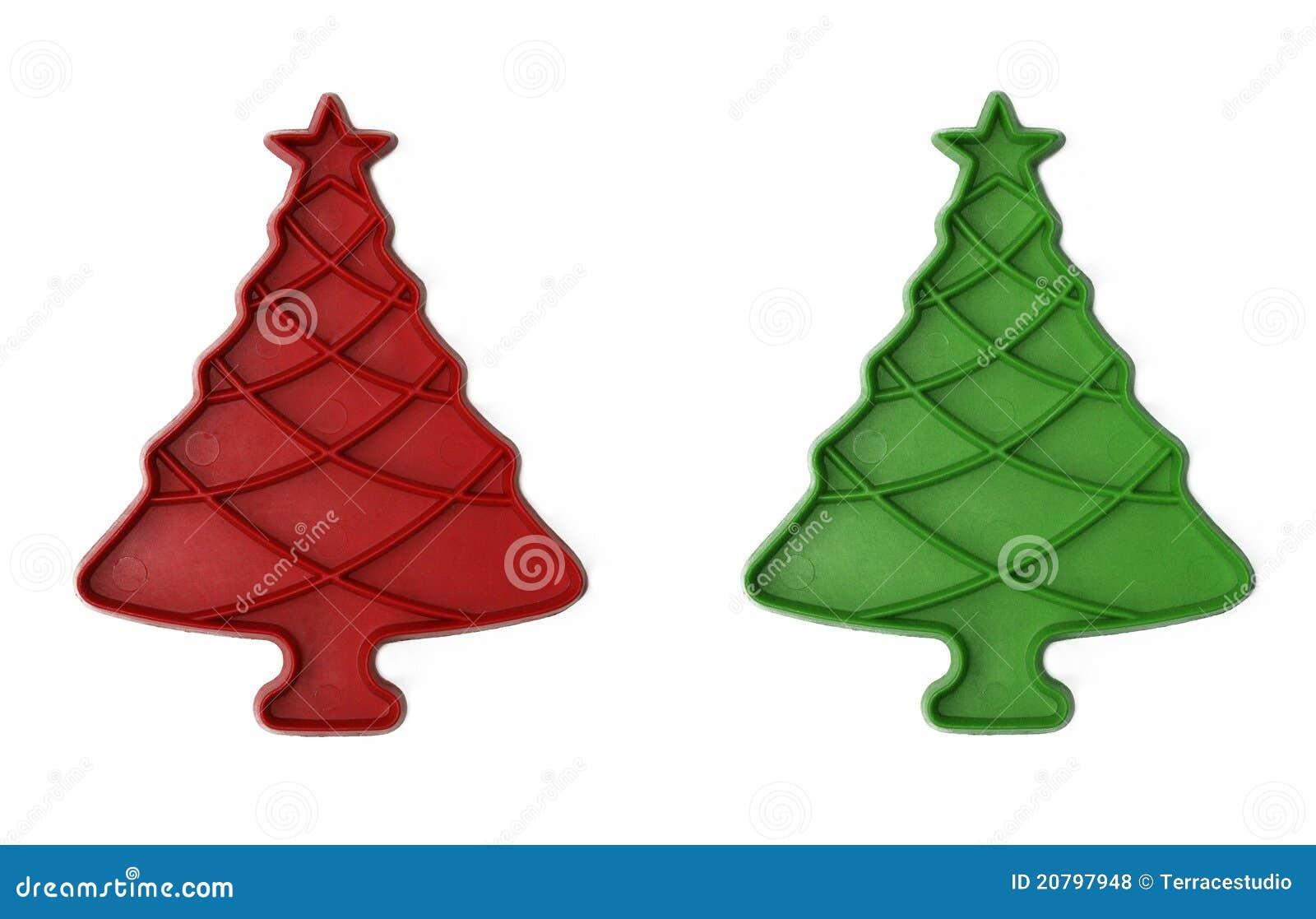 De uitstekende Rode/Groene Snijders van het Koekje van de Kerstboom