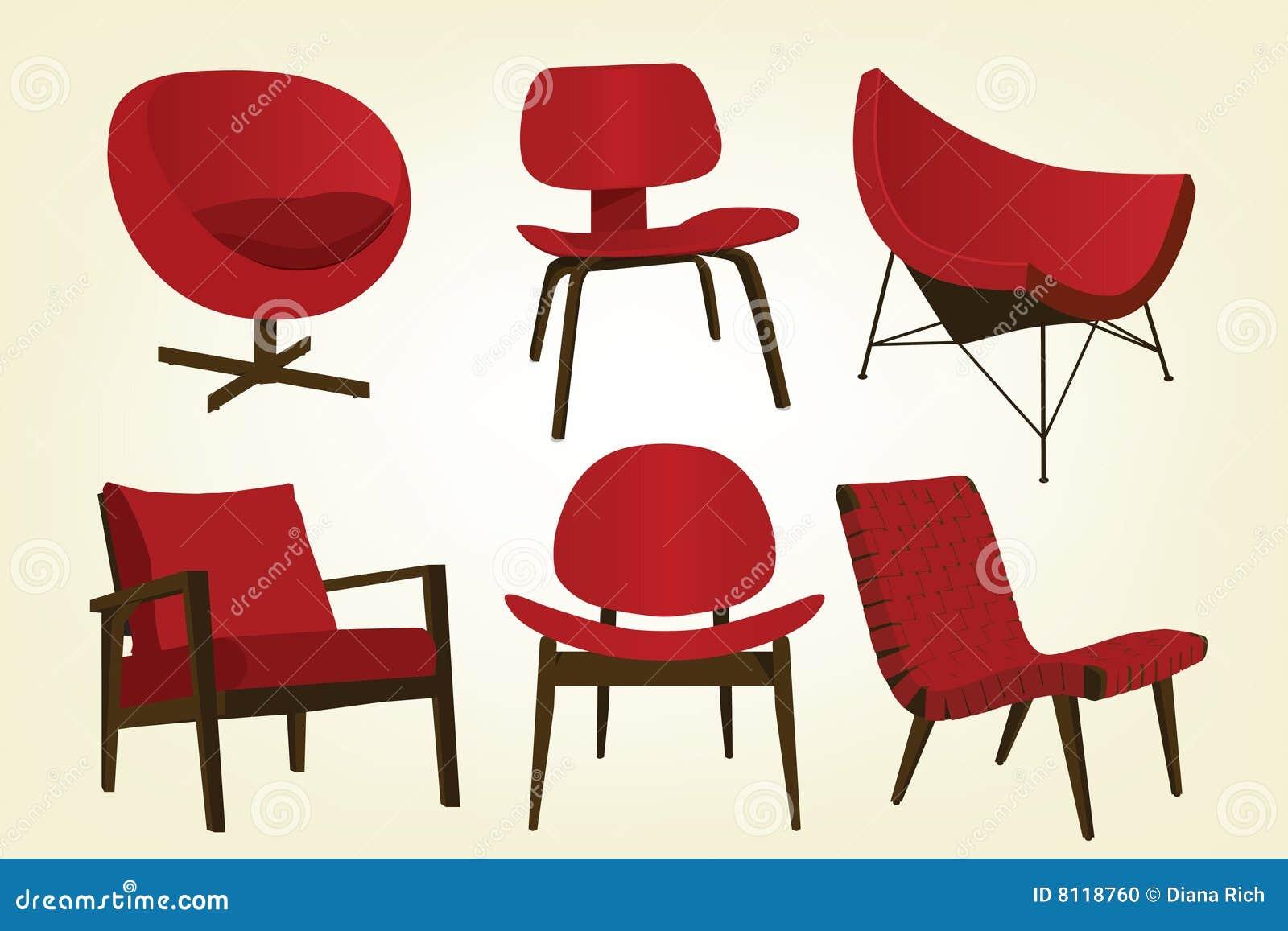 De uitstekende rode pictogrammen van de stoel vector illustratie afbeelding 8118760 - Stoel rode huis van de wereld ...
