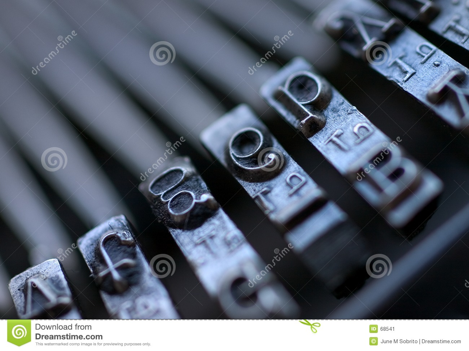 De uitstekende Sleutels van de Schrijfmachine