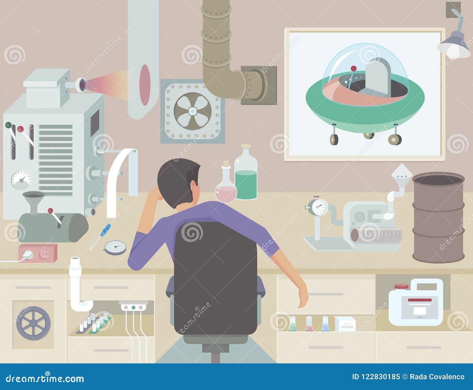 De uitvinder op het werk