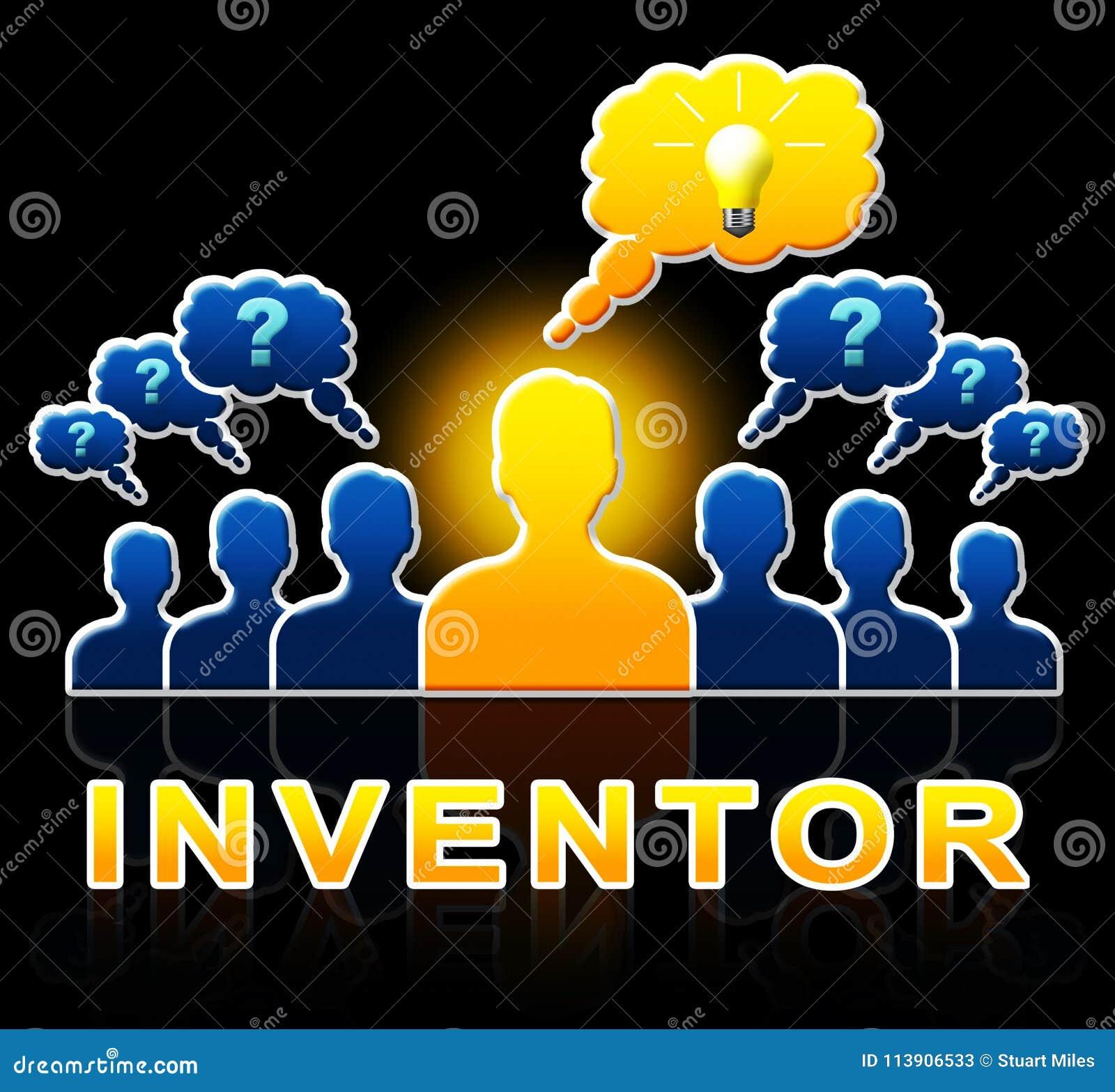 De uitvinder People Means Innovating vindt 3d Illustratie uit