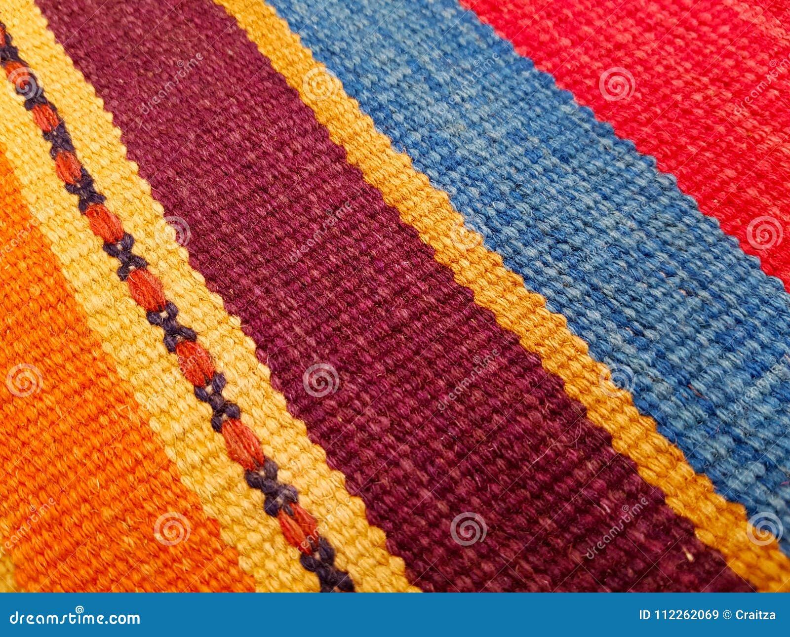 De unieke Kleurrijke Traditionele Oosteuropese Deken van Handcrafted