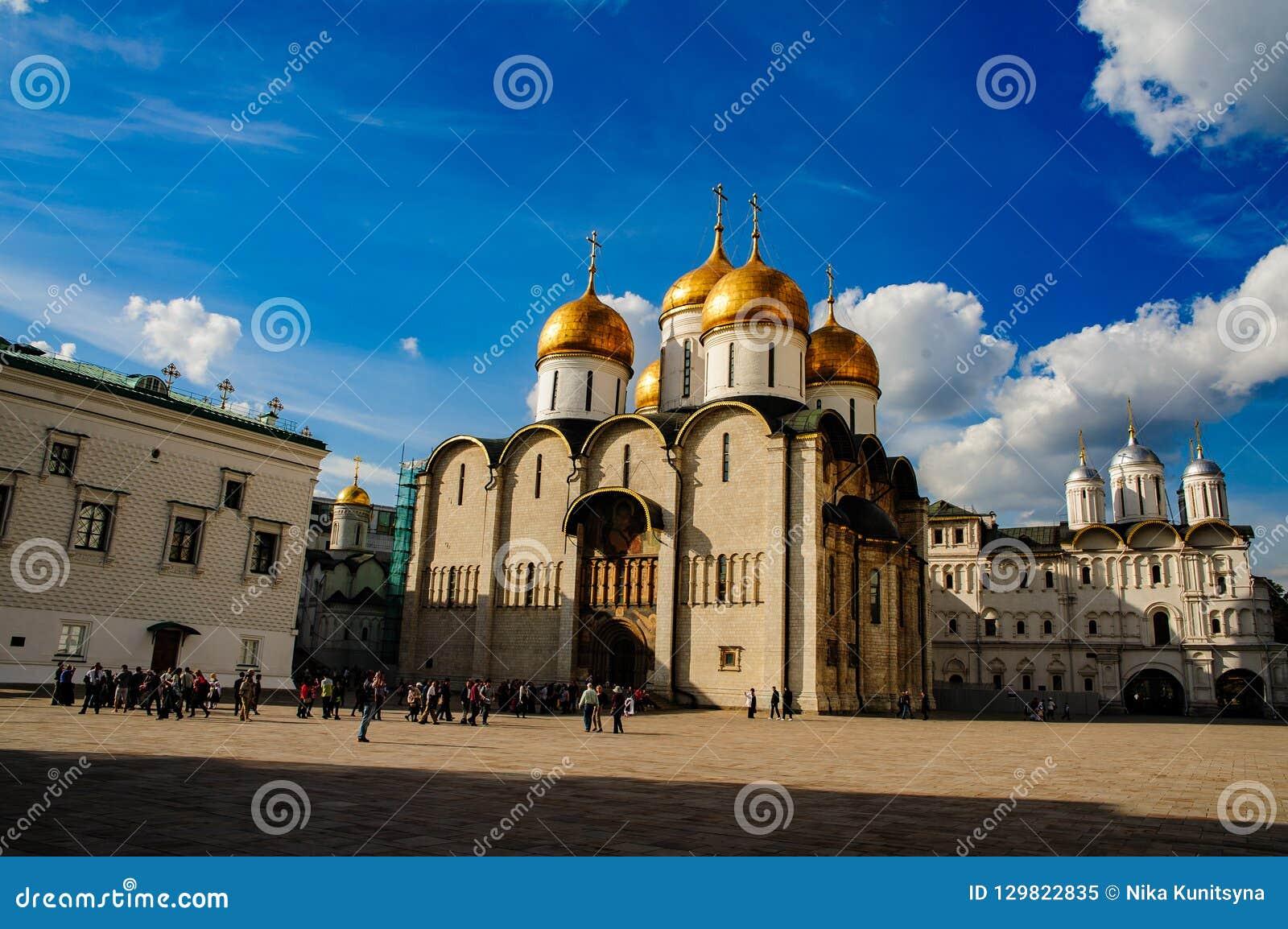 De Uspensky-kathedraal in het Kremlin, Moskou
