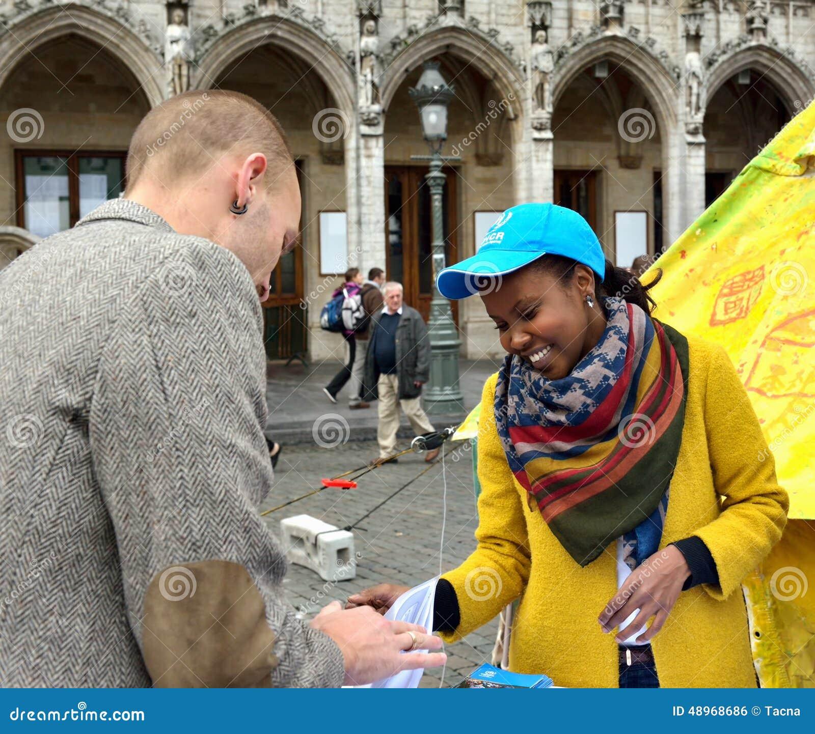 De V.N.-Dag op Grand Place in Brussel, België