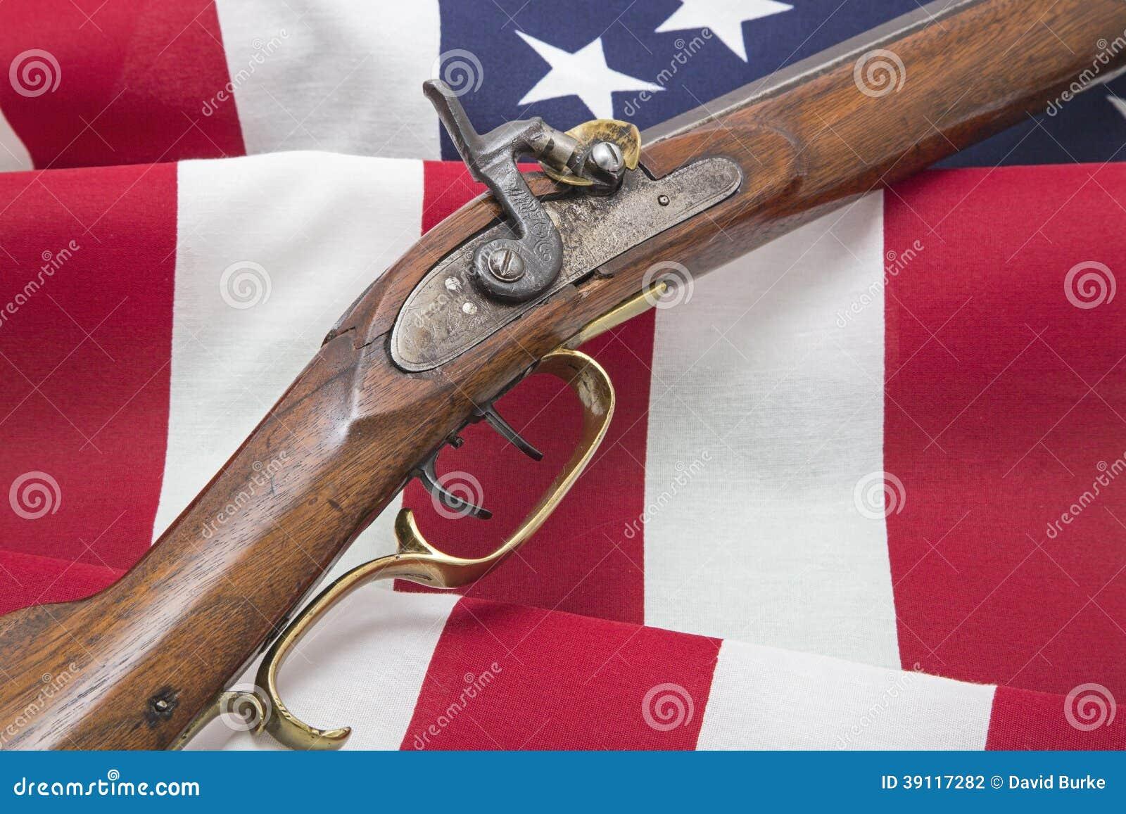 De V.S. markeren revolutionair antiek patriottisch geweer