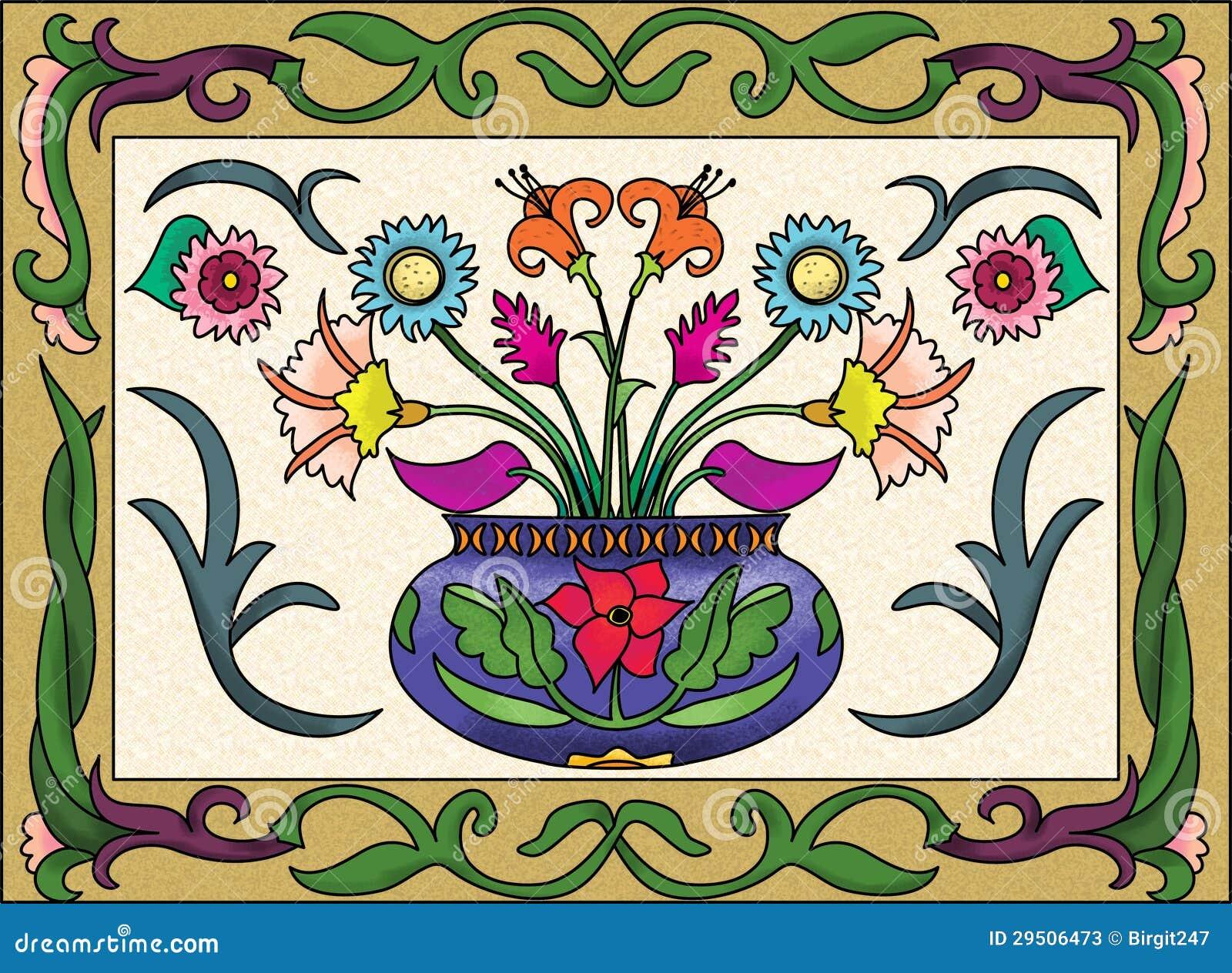 De vaasontwerp van de bloem