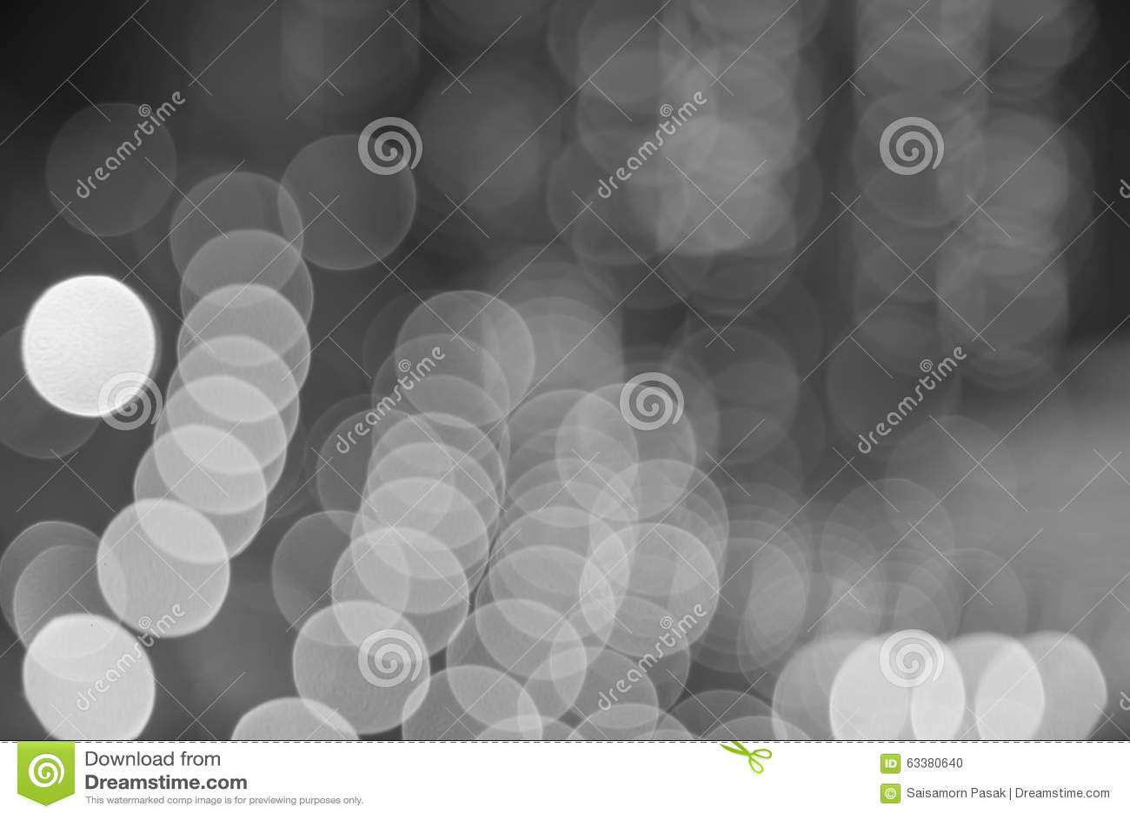 De vage zwart-witte achtergrond van stadslichten bokeh