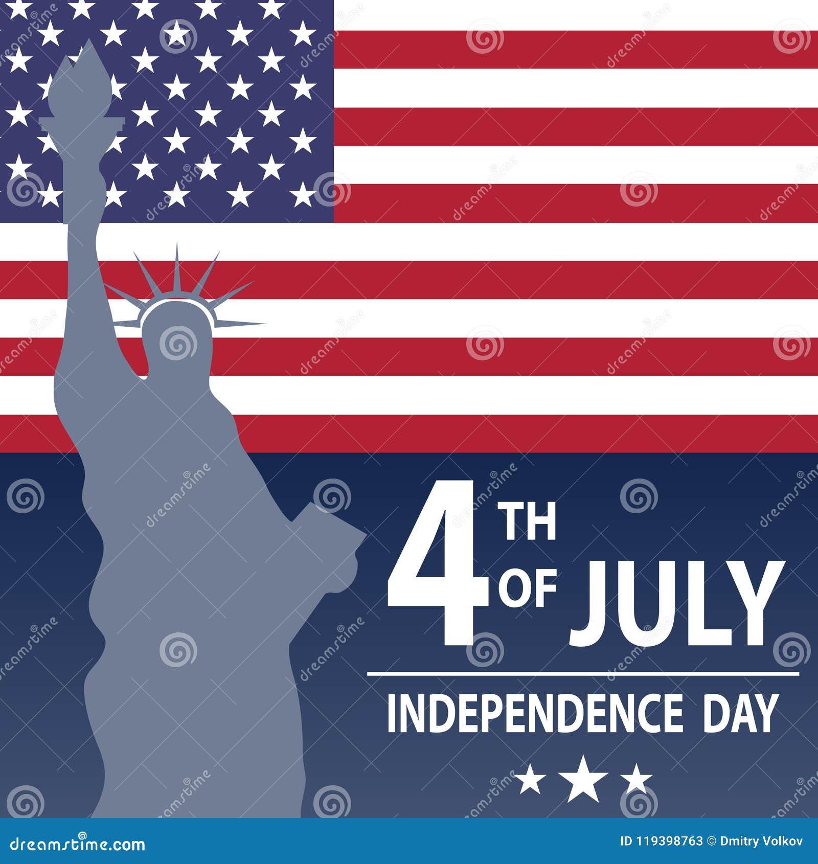 De vakantie is de dag van de Onafhankelijkheid van de V.S. Vakantie op 4 Juli