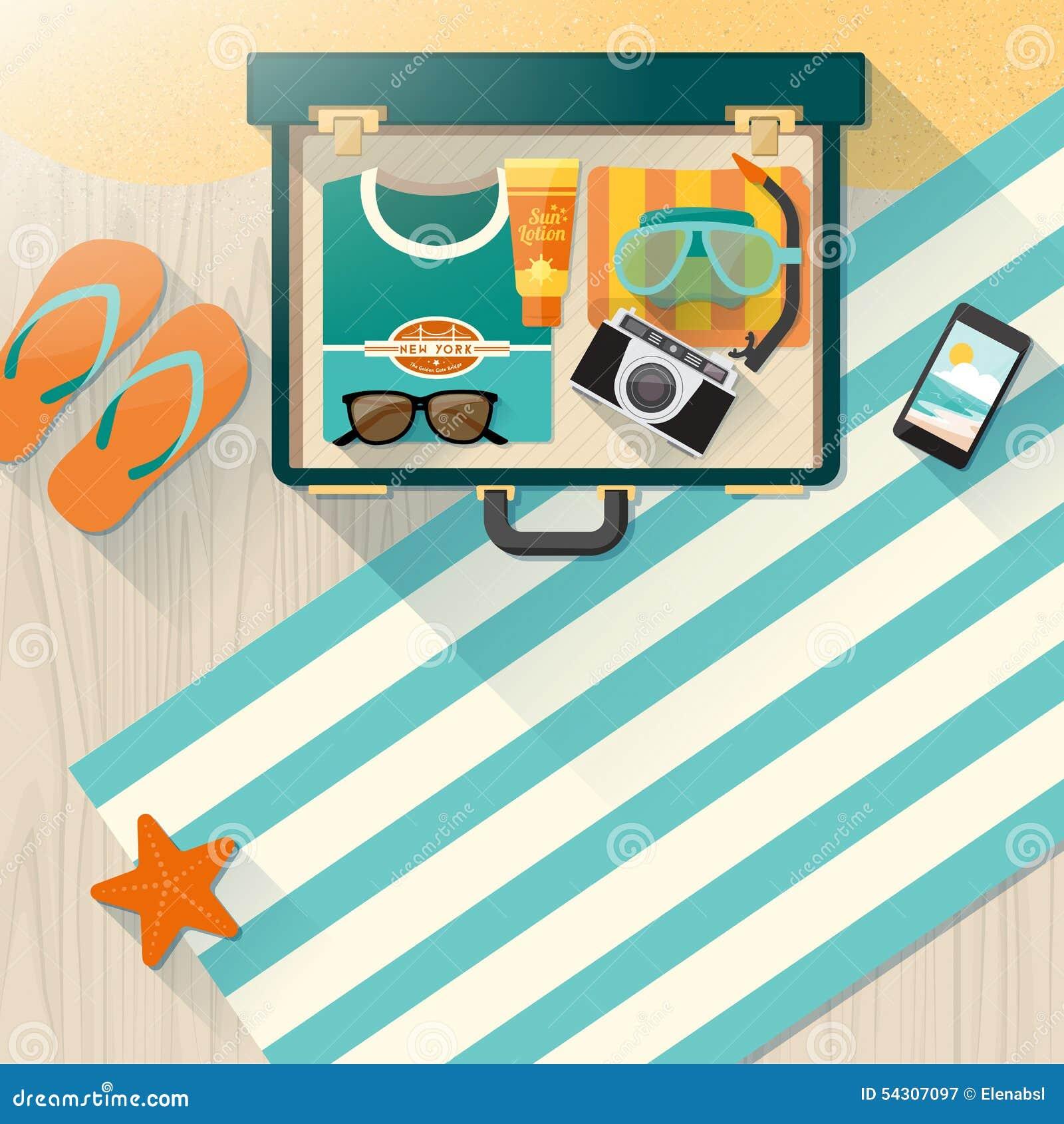 De vakanties van de de zomertijd op het strand