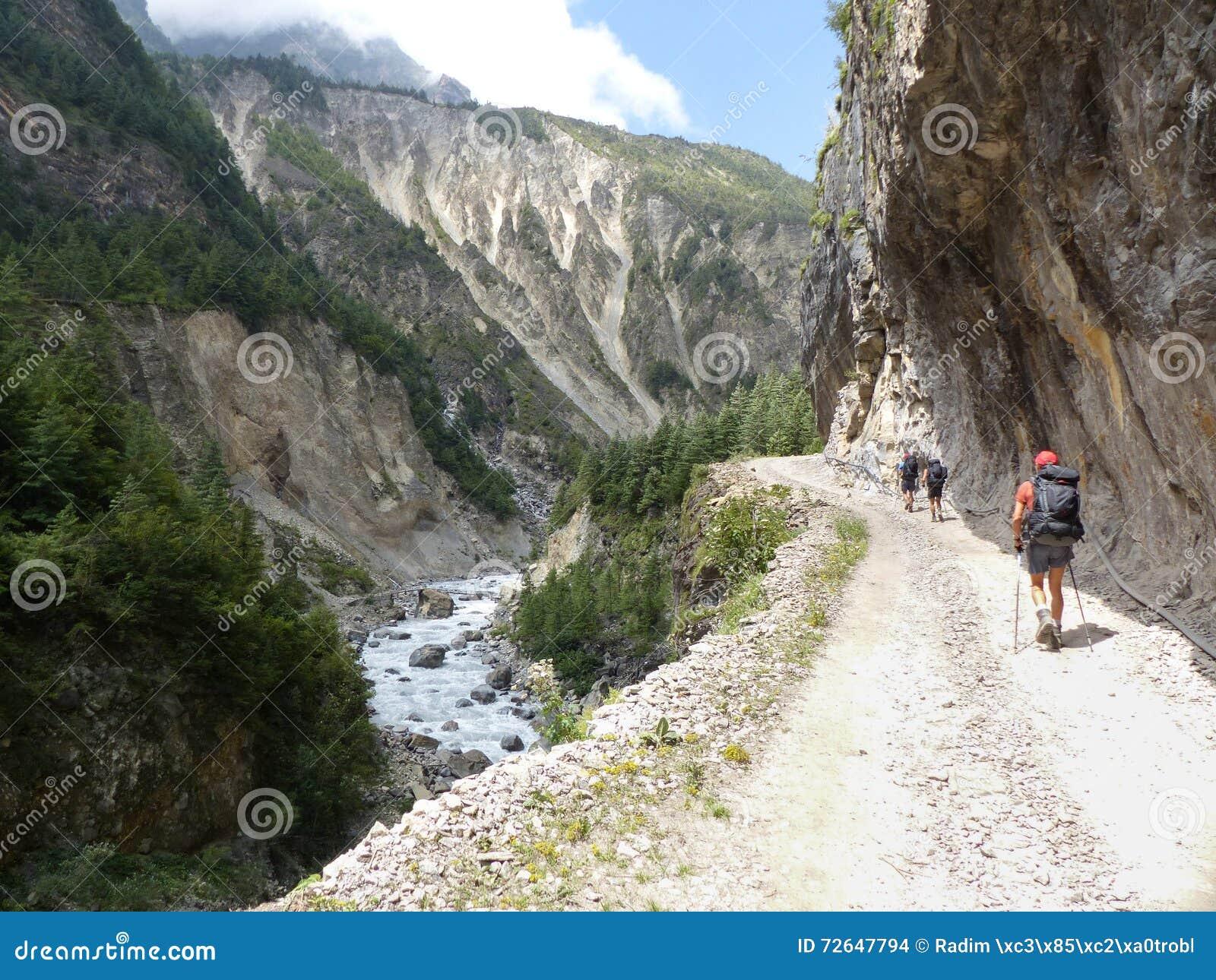 De vallei van de Marsyangdirivier