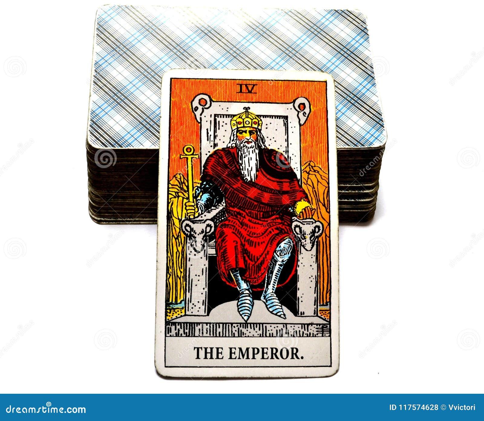 De van de de Kaartmacht van het Keizertarot Leider Ruler King Boss
