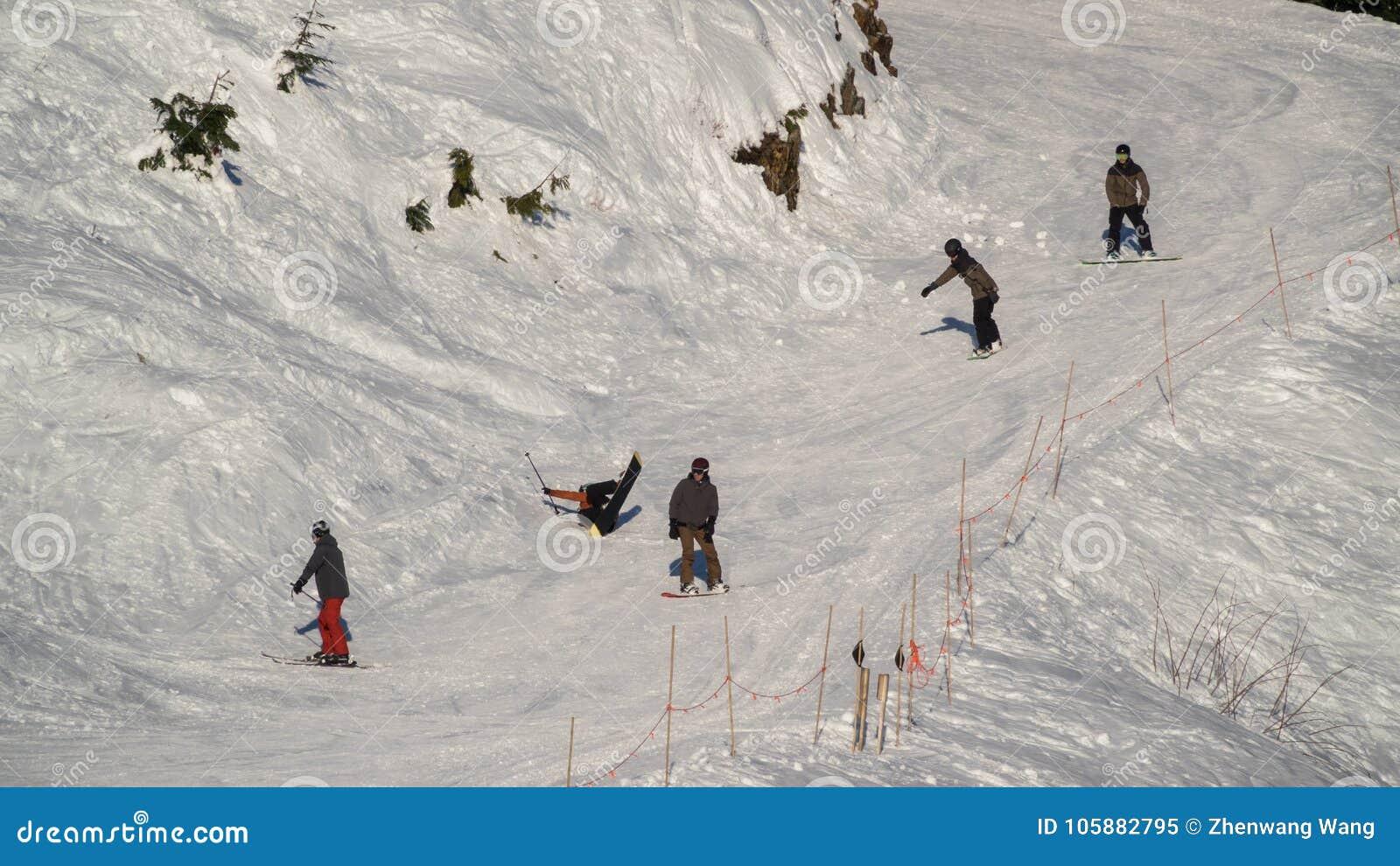 De Vancouver Canada AVANT JÉSUS CHRIST, décembre 5,2017 ski à la montagne de grouse, Canada de Vancouver