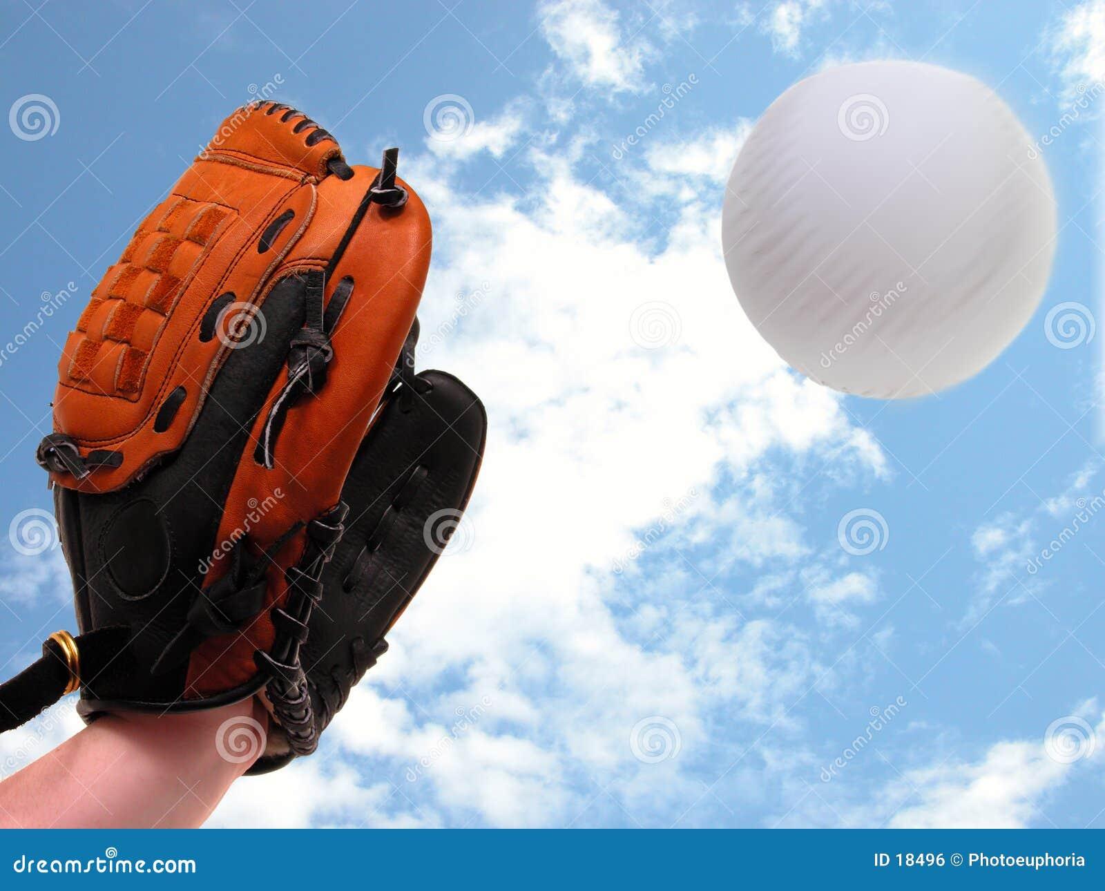 De Vangst van het softball