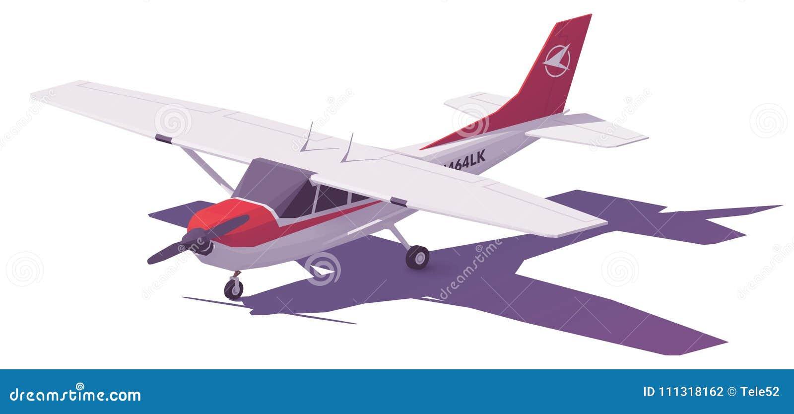 De vecteur poly petit avion bas