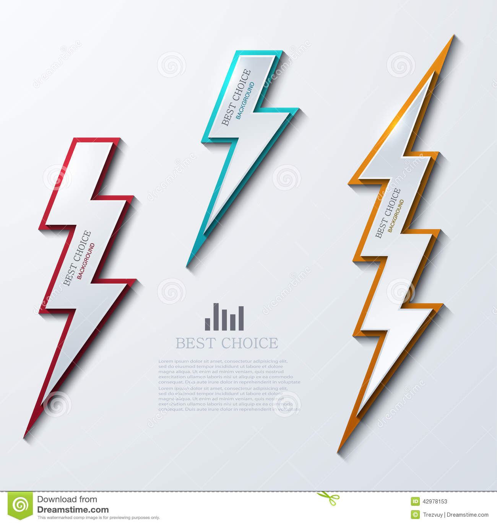 De vector geplaatste banners van de bliksembout 3 varianten