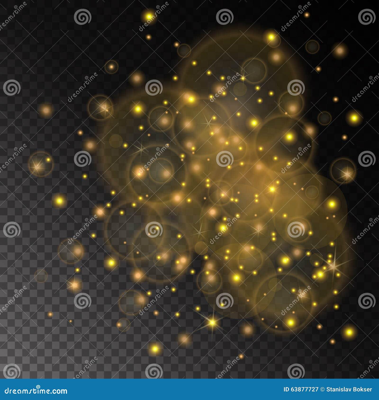 De vector gouden samenvatting van het lichtenconcept op de transparante achtergrond van de schaakraad