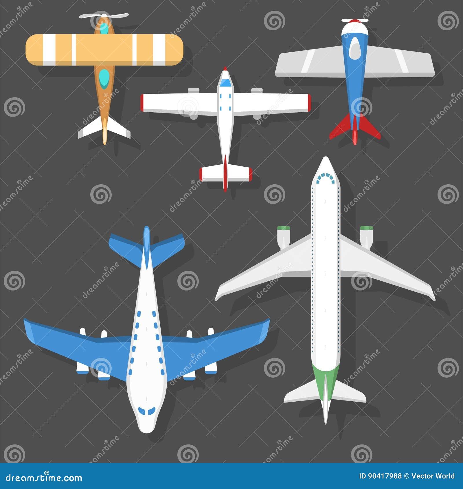 De vector hoogste mening van de vliegtuigillustratie en van de de reismanier van het vliegtuigenvervoer de het ontwerpreis hebben