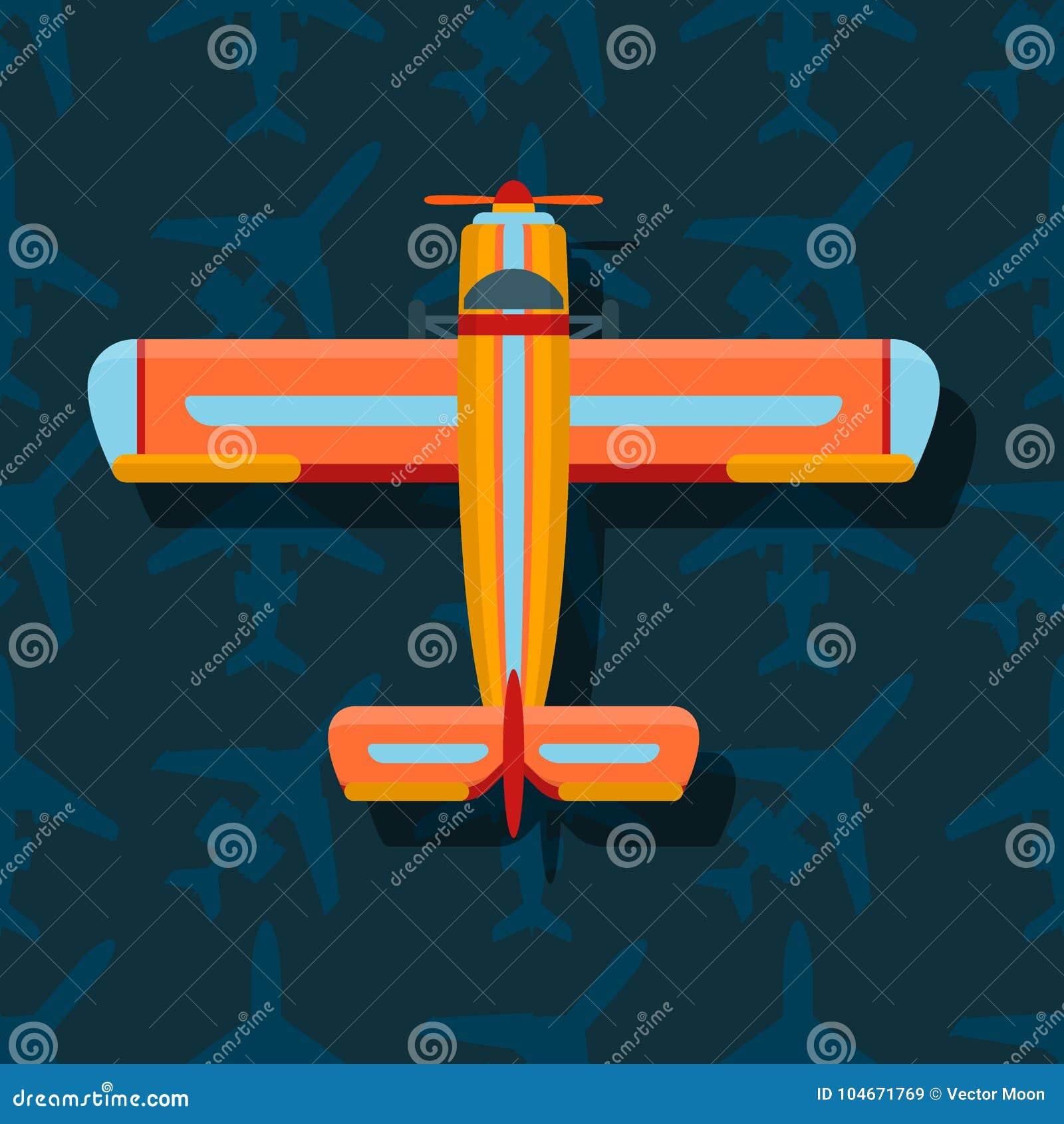 De vector hoogste mening van de vliegtuigillustratie en de de reismanier van het vliegtuigenvervoer ontwerpen de luchtvaart van d
