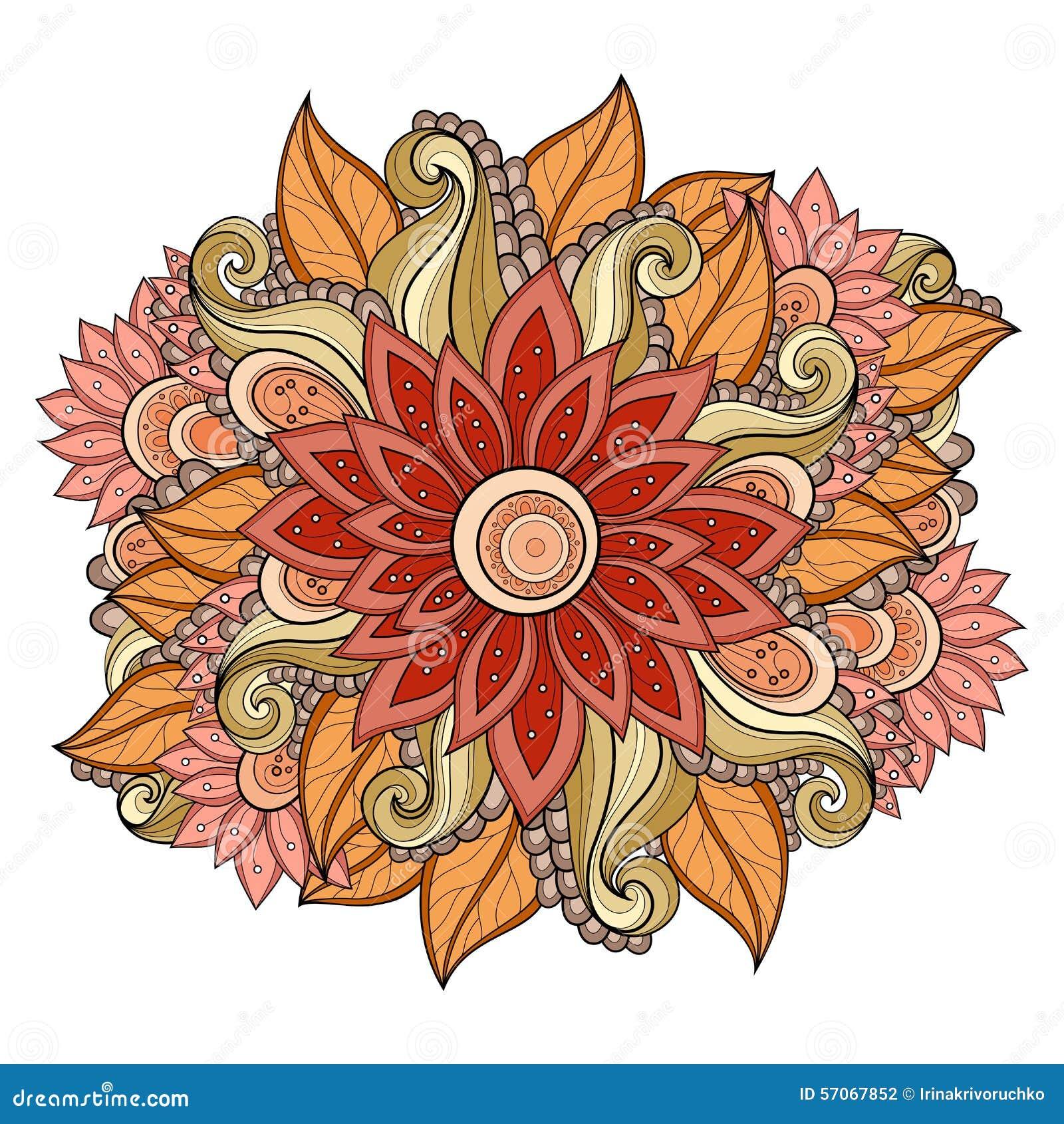 De vector kleurde Bloemenachtergrond