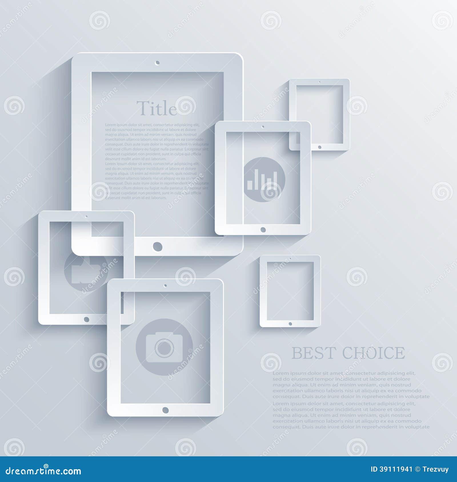 De vector moderne achtergrond van de computertablet.